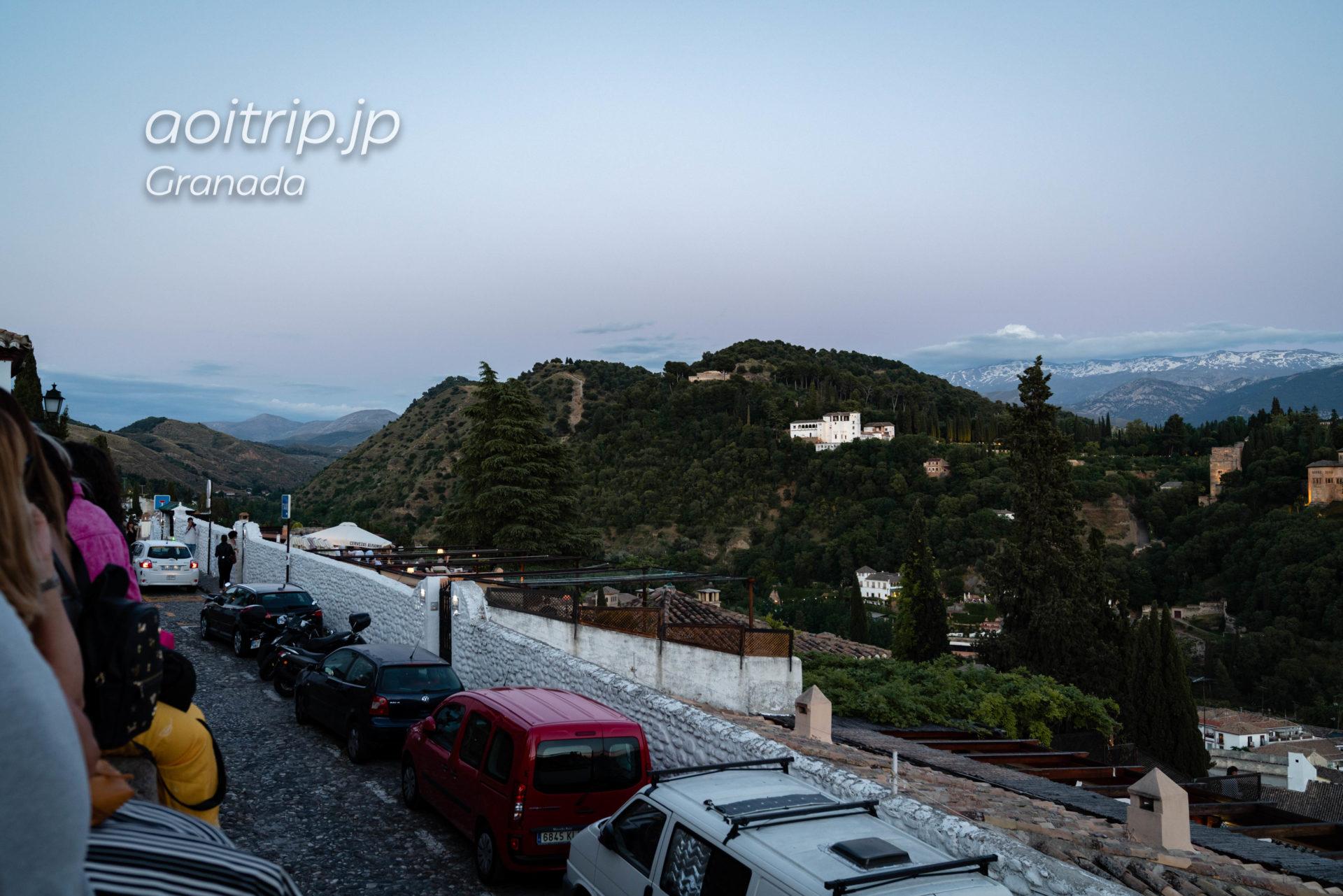 グラナダのサンニコラス広場展望台