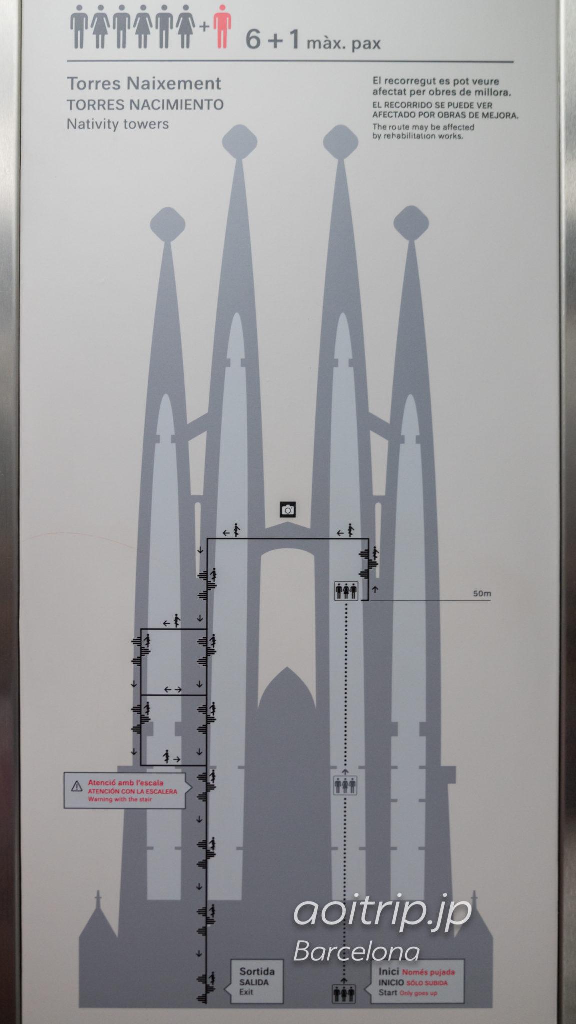 生誕のファサード 鐘楼の立面図