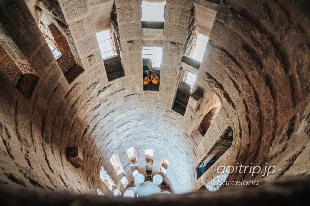 サグラダファミリア 生誕のファサード鐘楼の内部