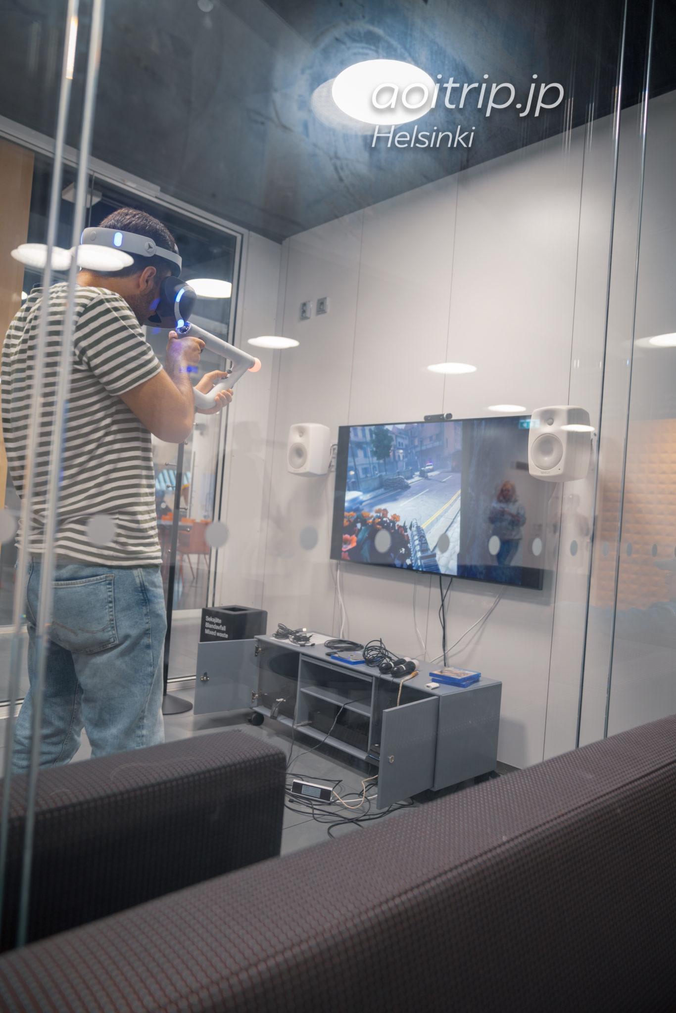 ヘルシンキ中央図書館の2階 VRゲーム部屋