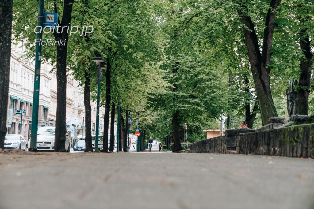 ヘルシンキの通りポホヨイ エスプラナーディ(Pohjoisesplanadi)