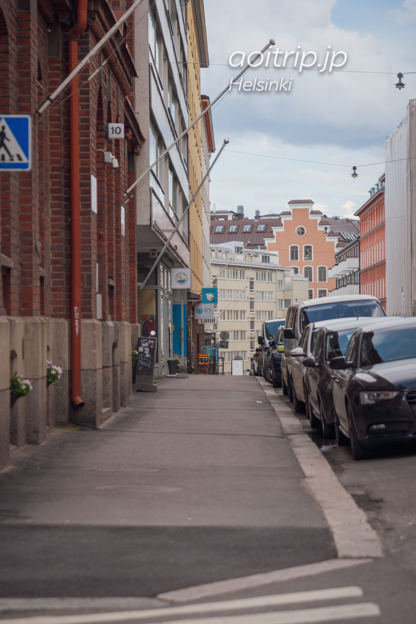 ヘルシンキかもめ食堂の通りPursimiehenkatu