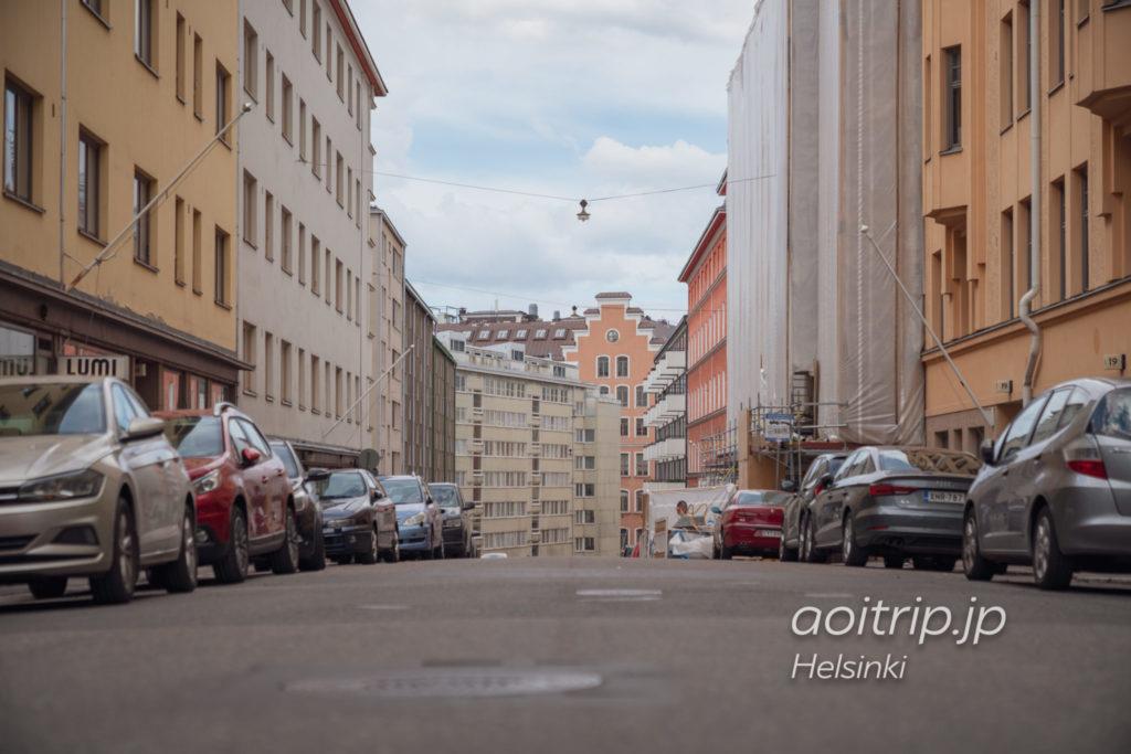 ヘルシンキかもめ食堂前の通りPursimiehenkatu
