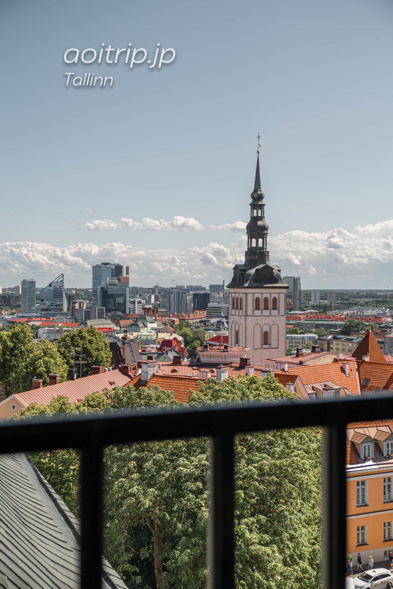タリン聖母マリア大聖堂 鐘楼から望む聖ニコラス教会