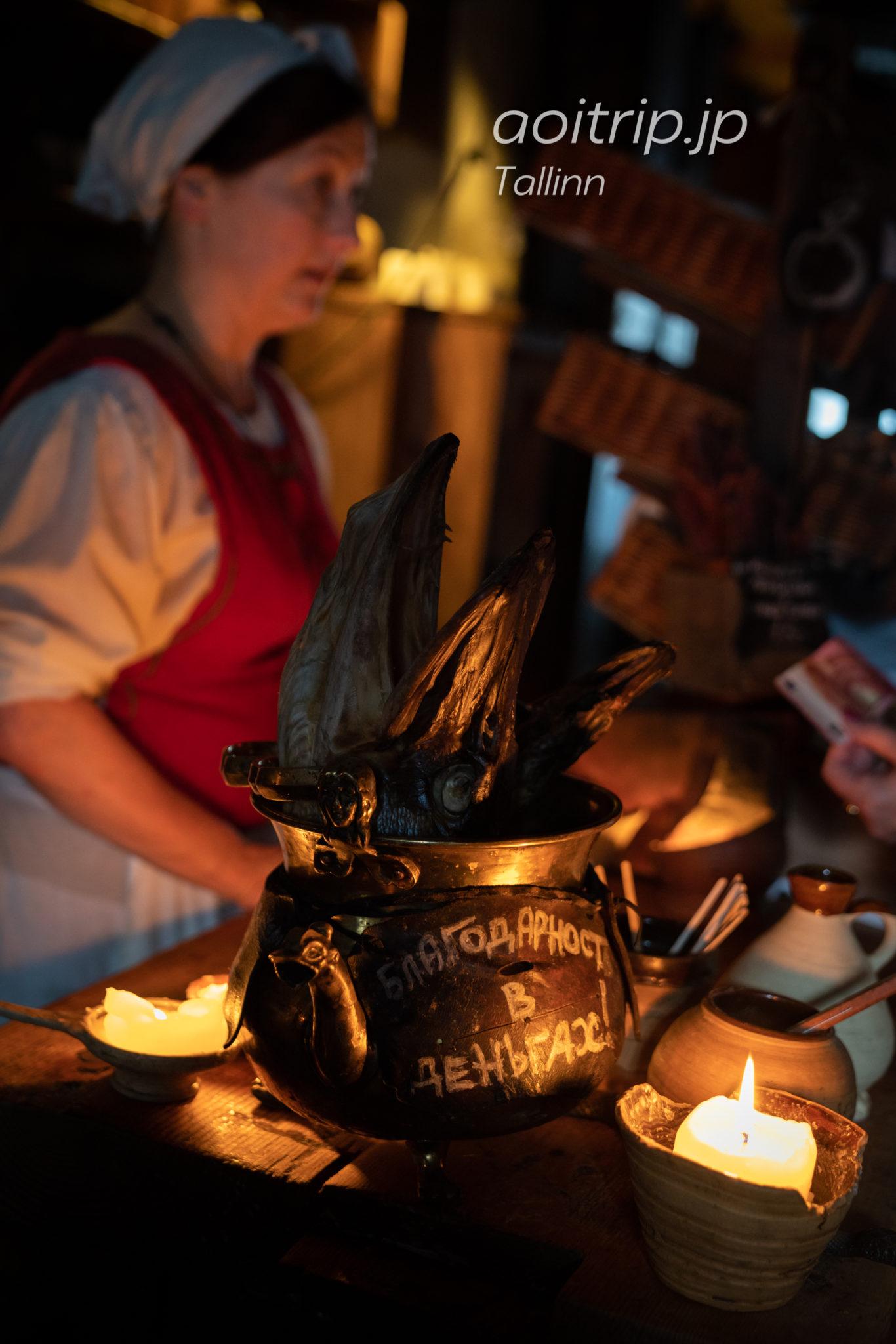 エストニア タリンのレストランIII Draakon