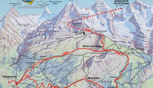 グリンデルワルトの地図(マップ)|Grindelwald Map