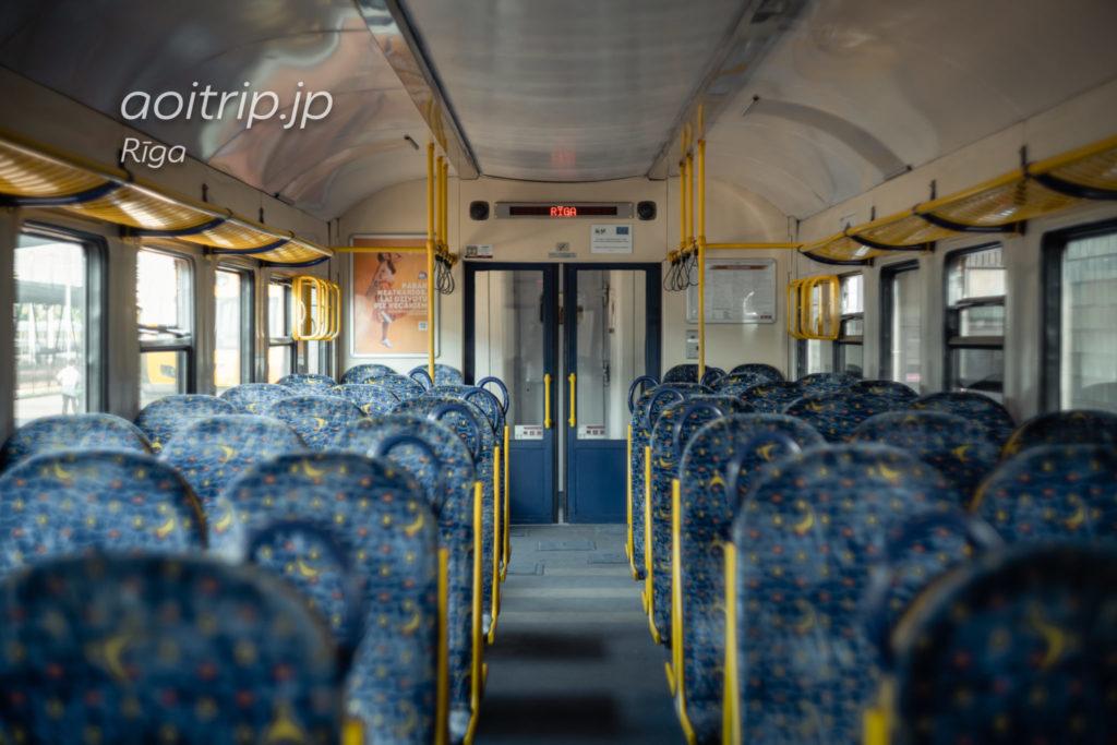 ラトビア鉄道の車内