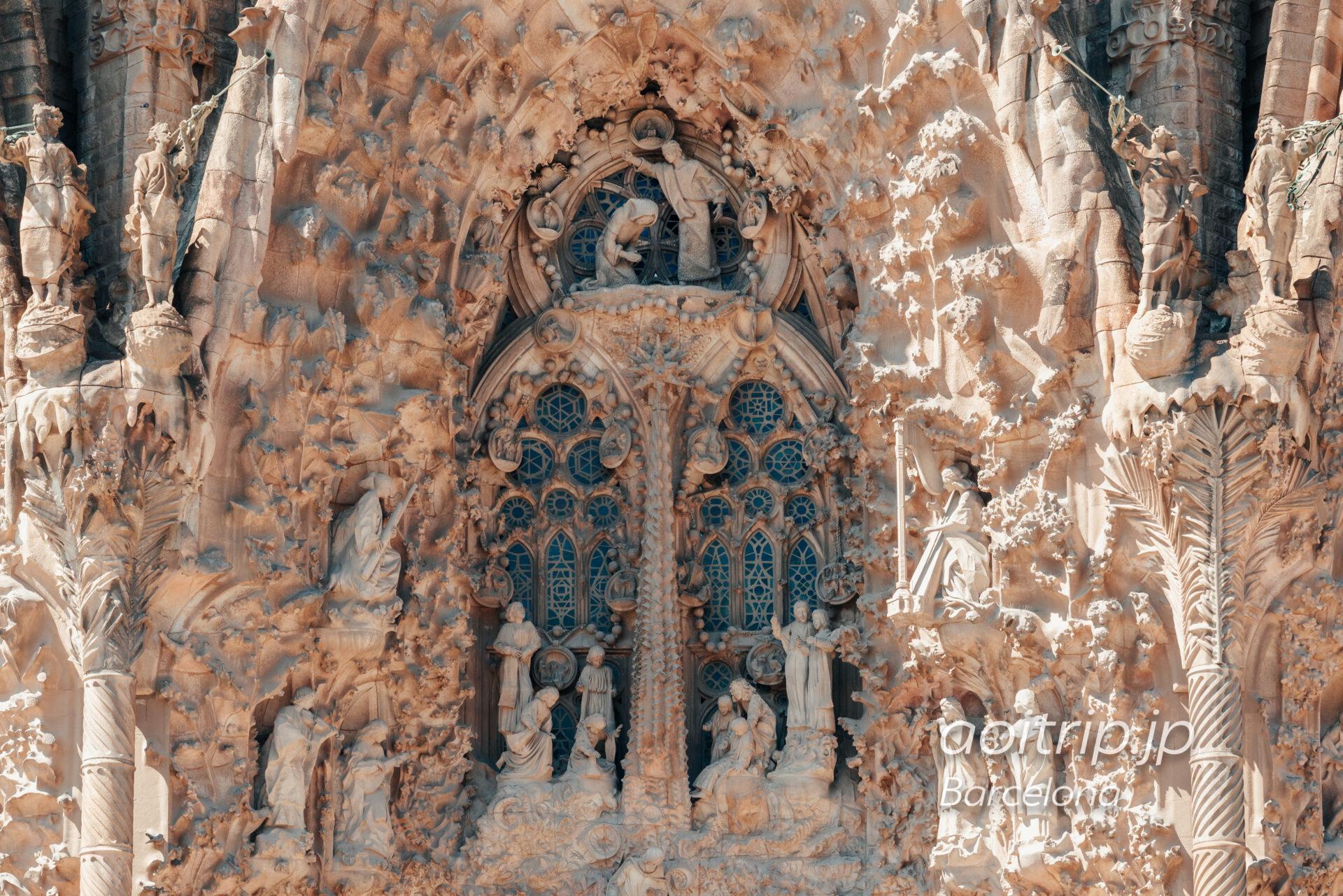 Basílica de la Sagrada Família(Façana del Naixement, The annunciation of the Virgin Mary)