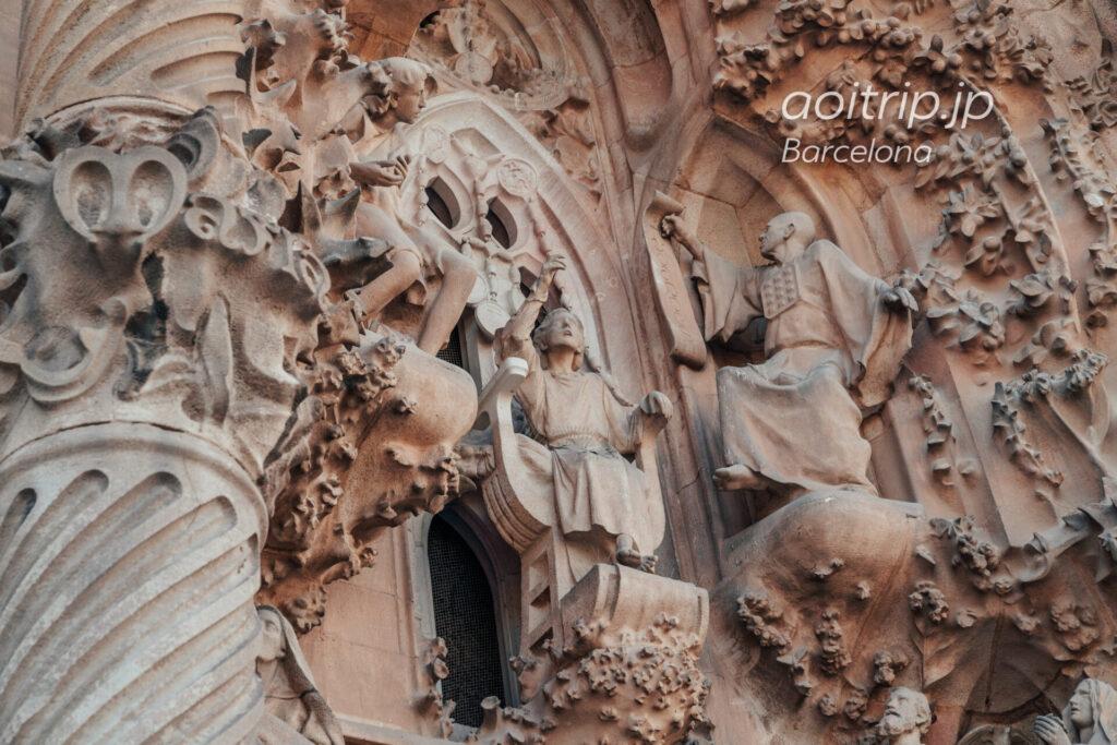 Basílica de la Sagrada Família(Façade del Naixement, Jesus preaching in the temple)