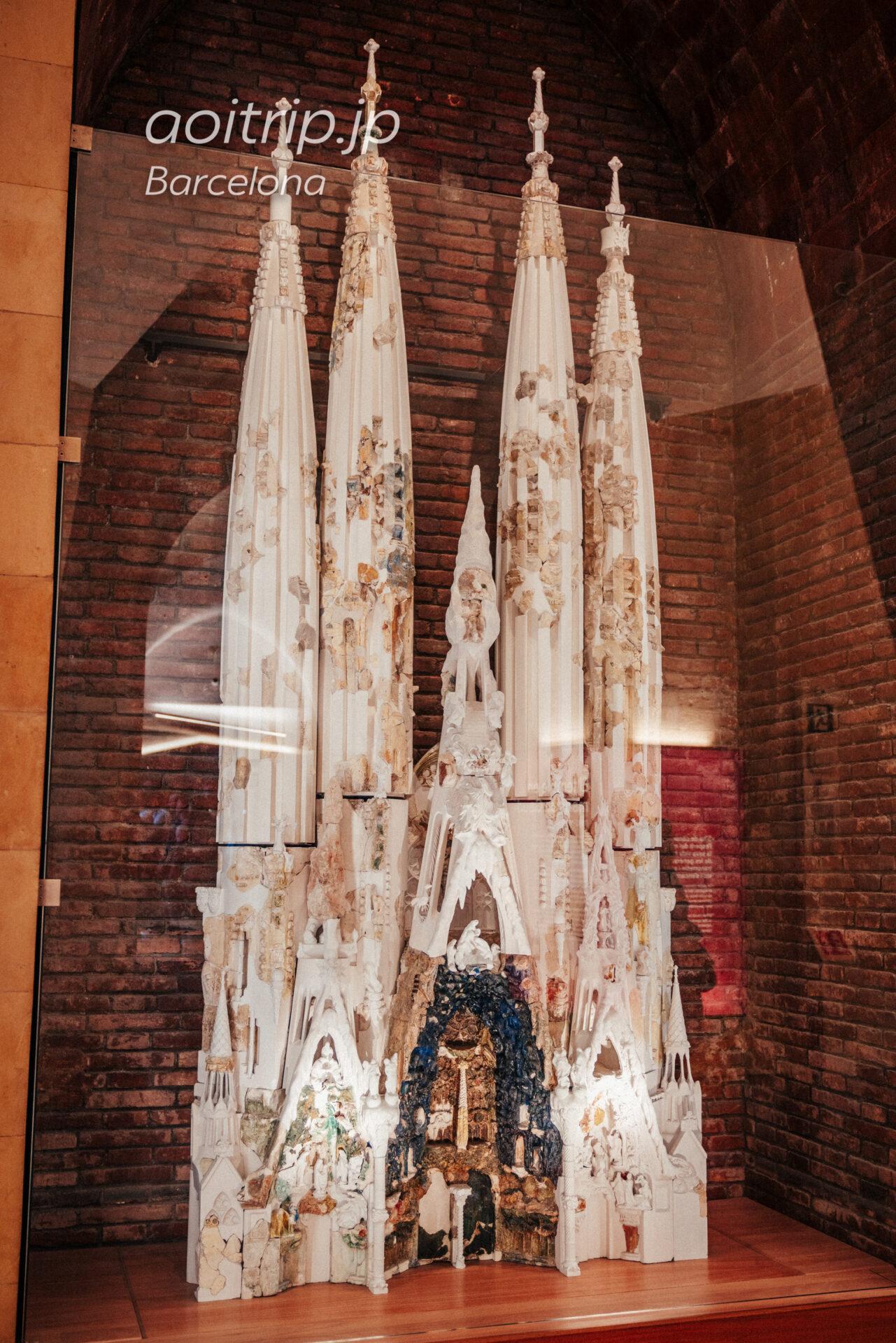 建築家ジュゼップ マリア ジュジョール(Josep Maria Jujol Gibert)が作ったサグラダファミリア生誕のファサードの模型