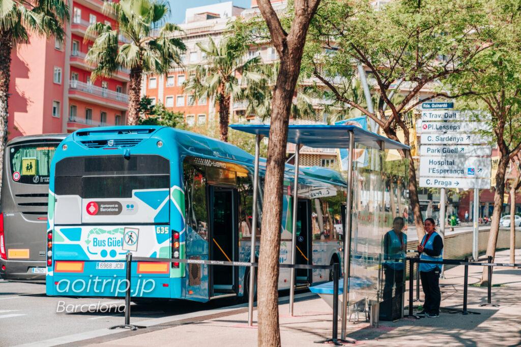 グエル公園のシャトルバスBus Güell(Alfons X駅前)