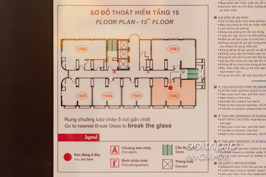 シェラトン サイゴン ホテル & タワーズのフロアマップ