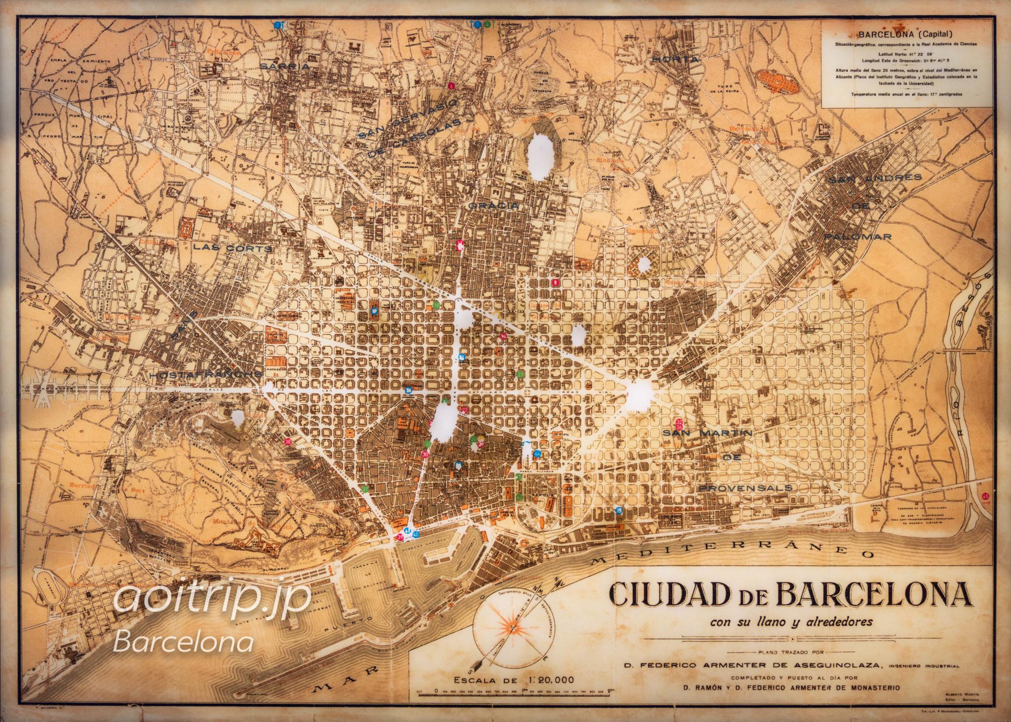 1900年のバルセロナ