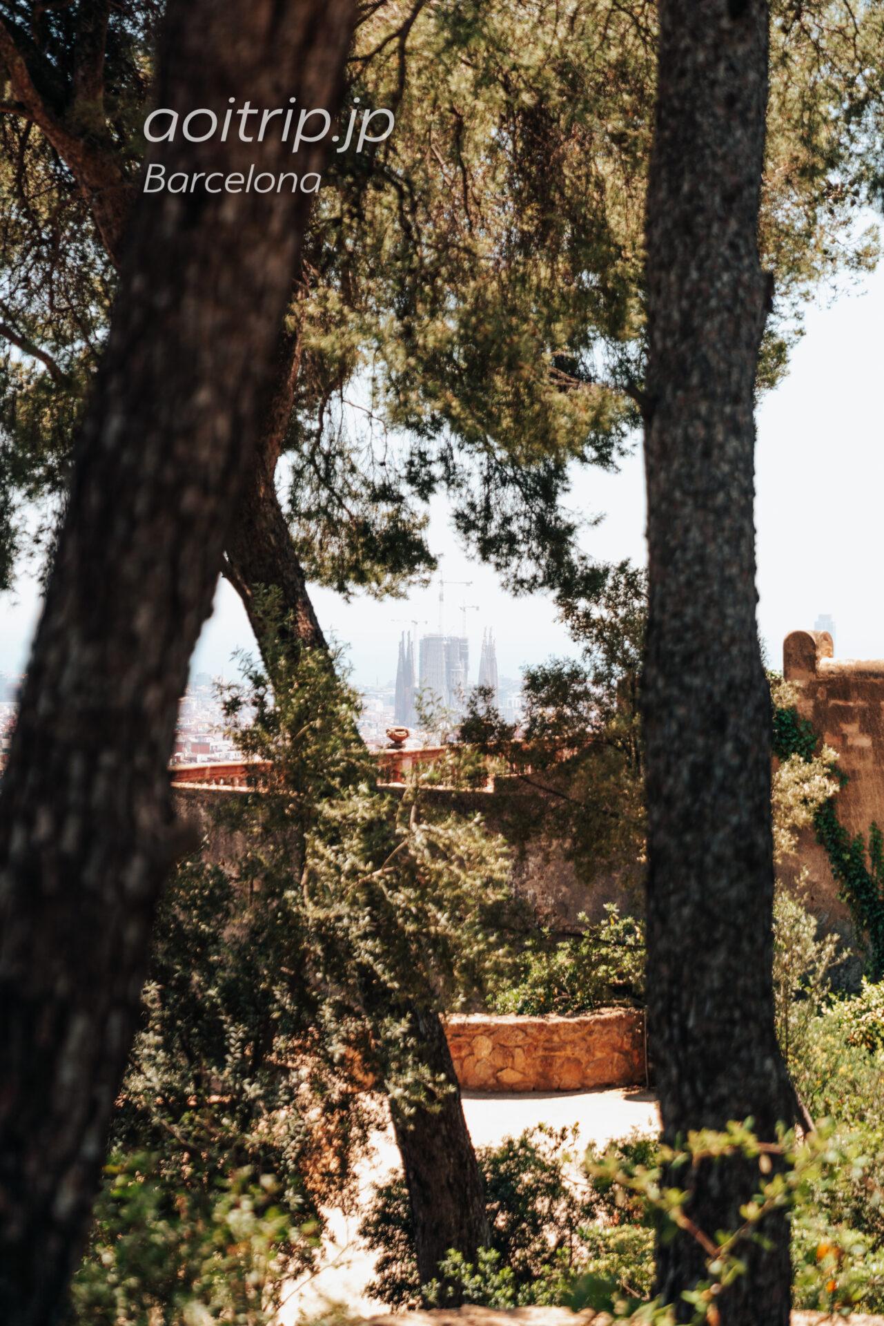 バルセロナ ゴルゴダの丘から見るサグラダファミリア