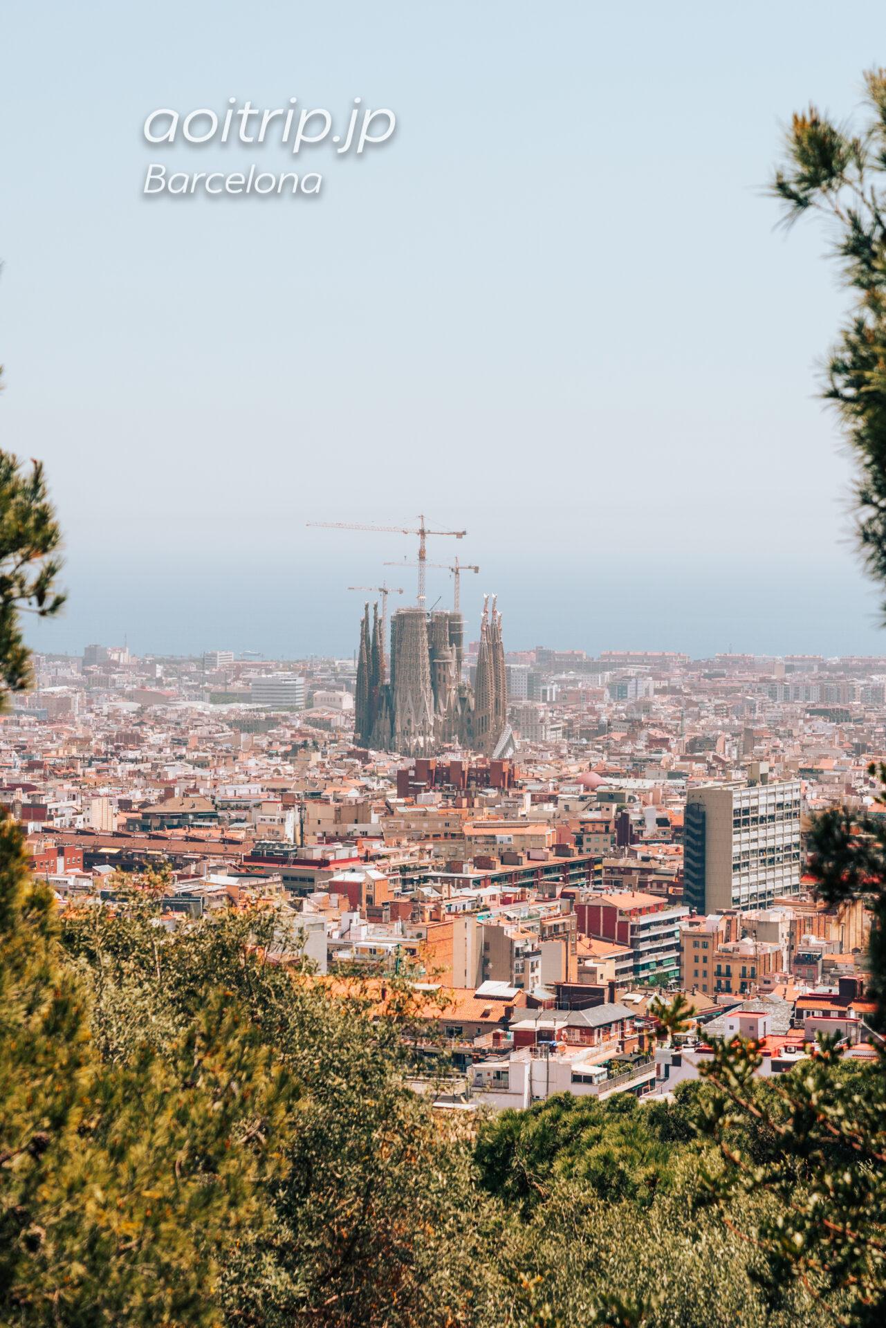 バルセロナ ゴルゴダの丘 Turó de les Tres Creusから望むサグラダファミリア