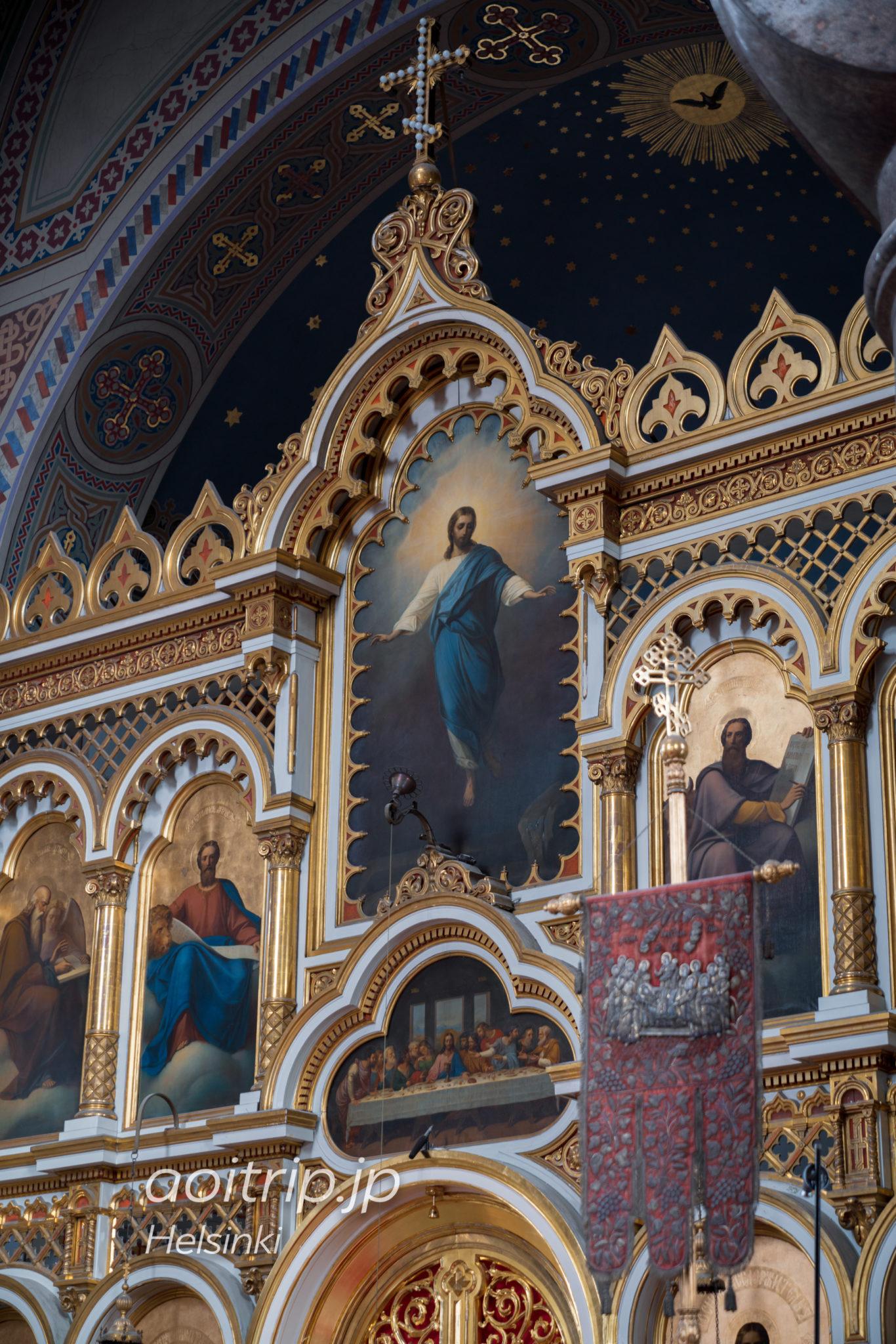 ヘルシンキ生神女就寝大聖堂の内部