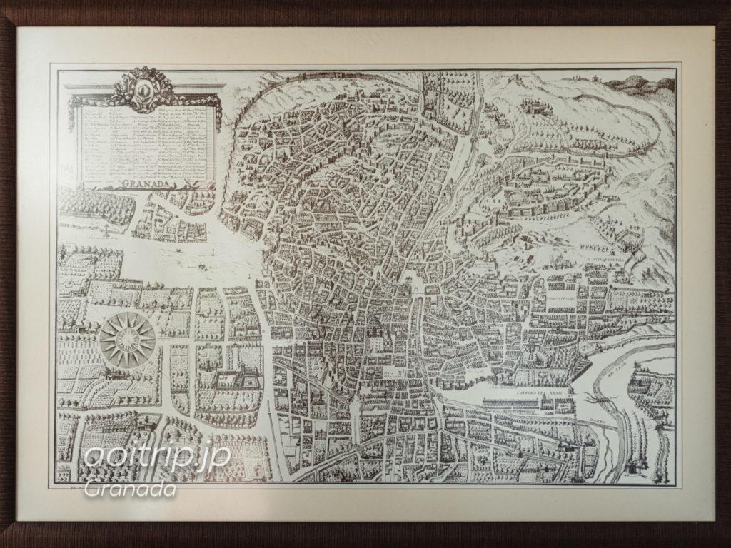 17世紀のグラナダの地図