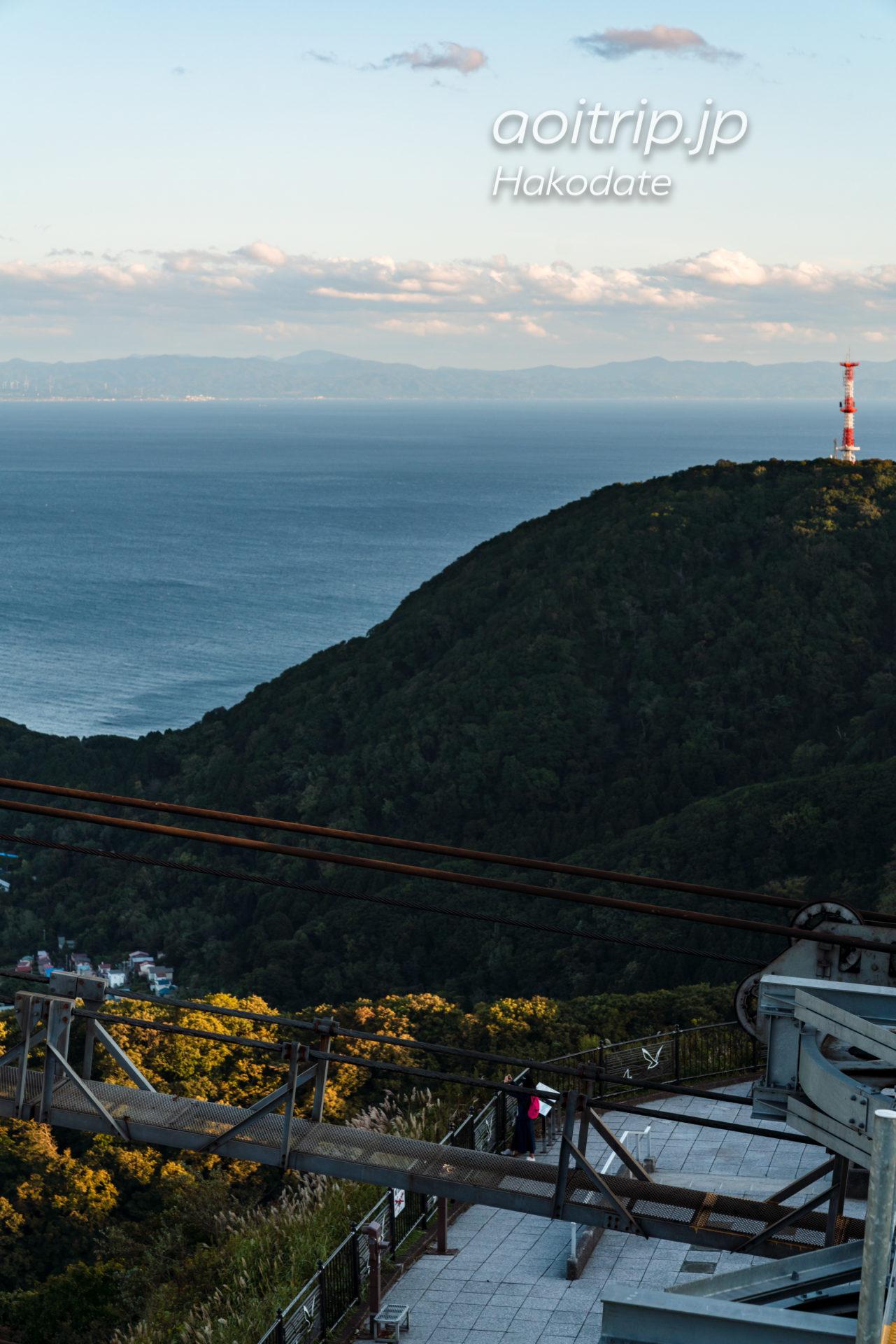 函館山展望台から望む青森