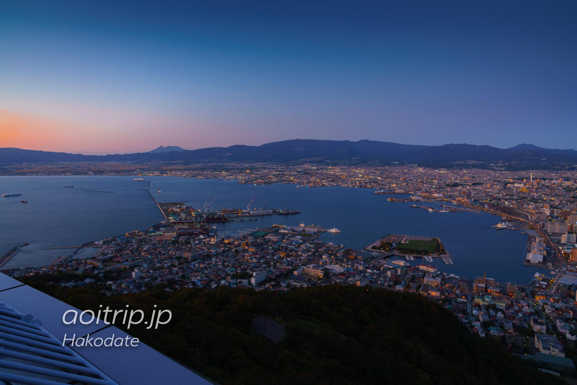 函館山展望台から撮影した函館夜景