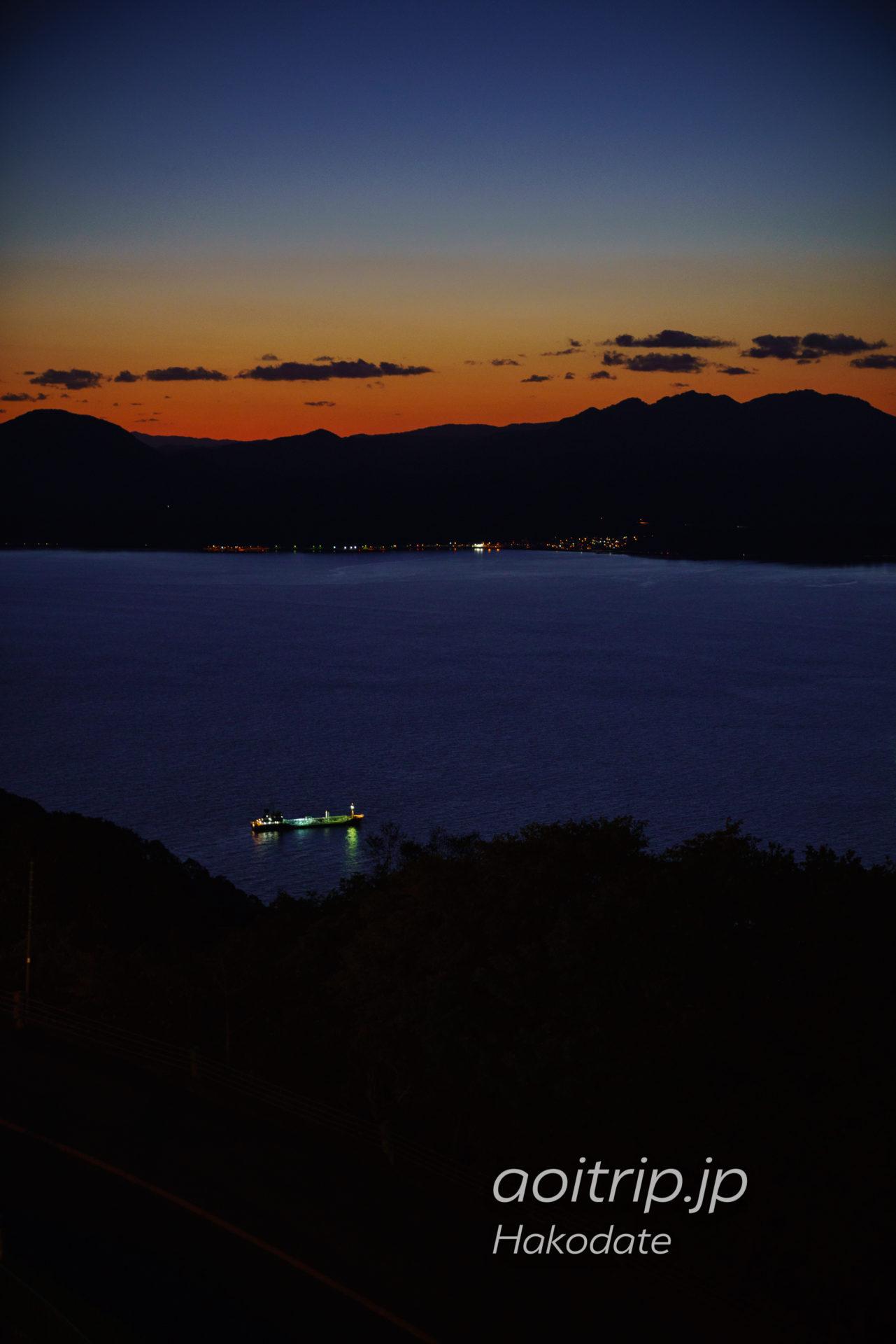 函館山から見る茂辺地駅周辺