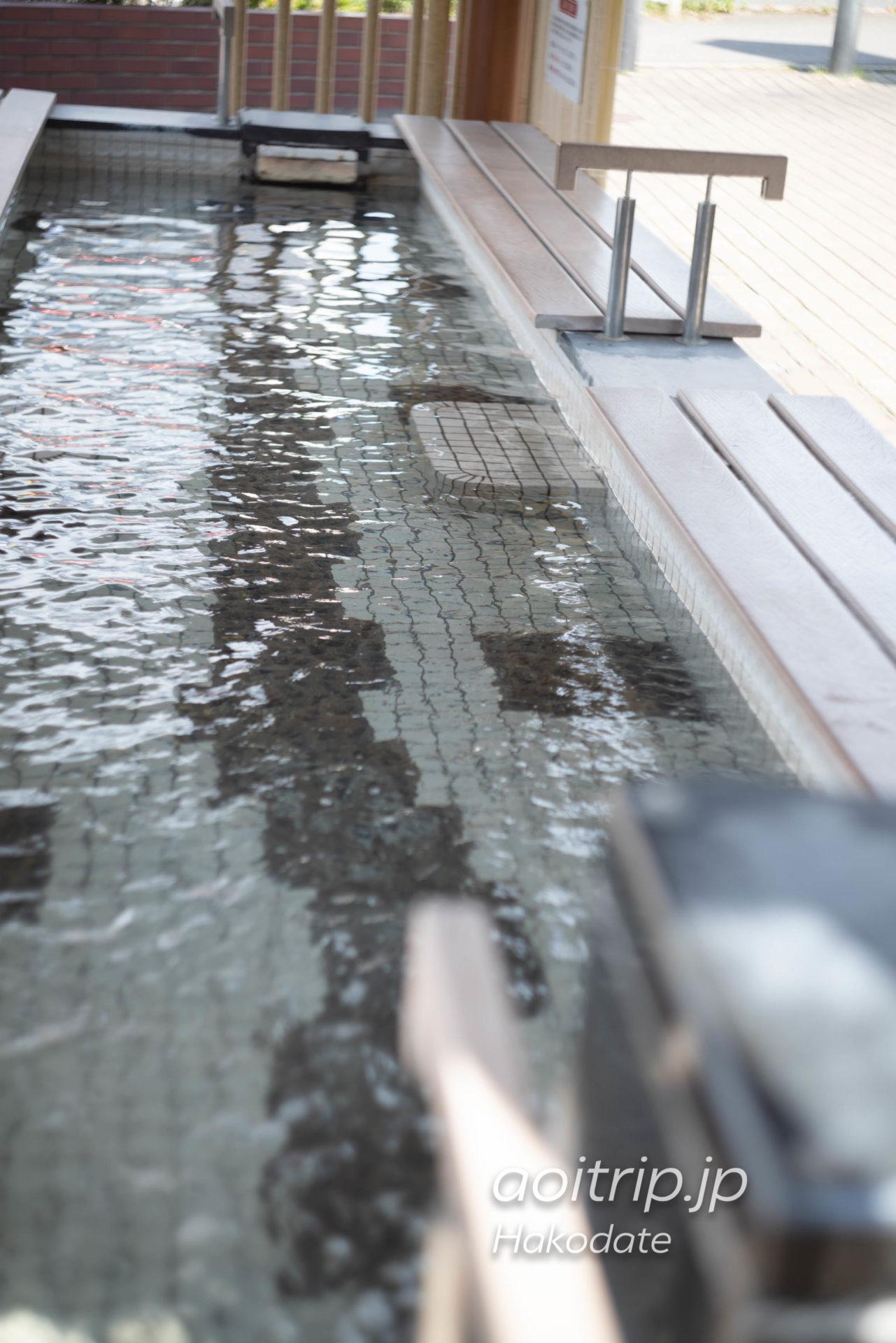 "湯の川温泉 足湯 ""Ashiyu ""Footbath"