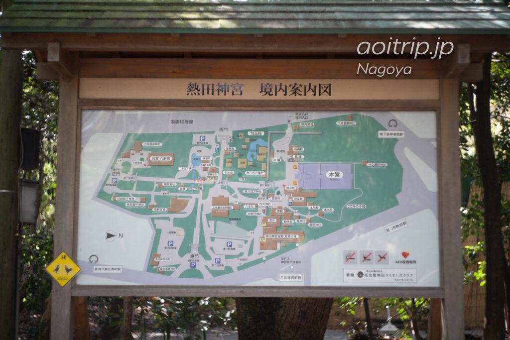 熱田神宮の境内案内図
