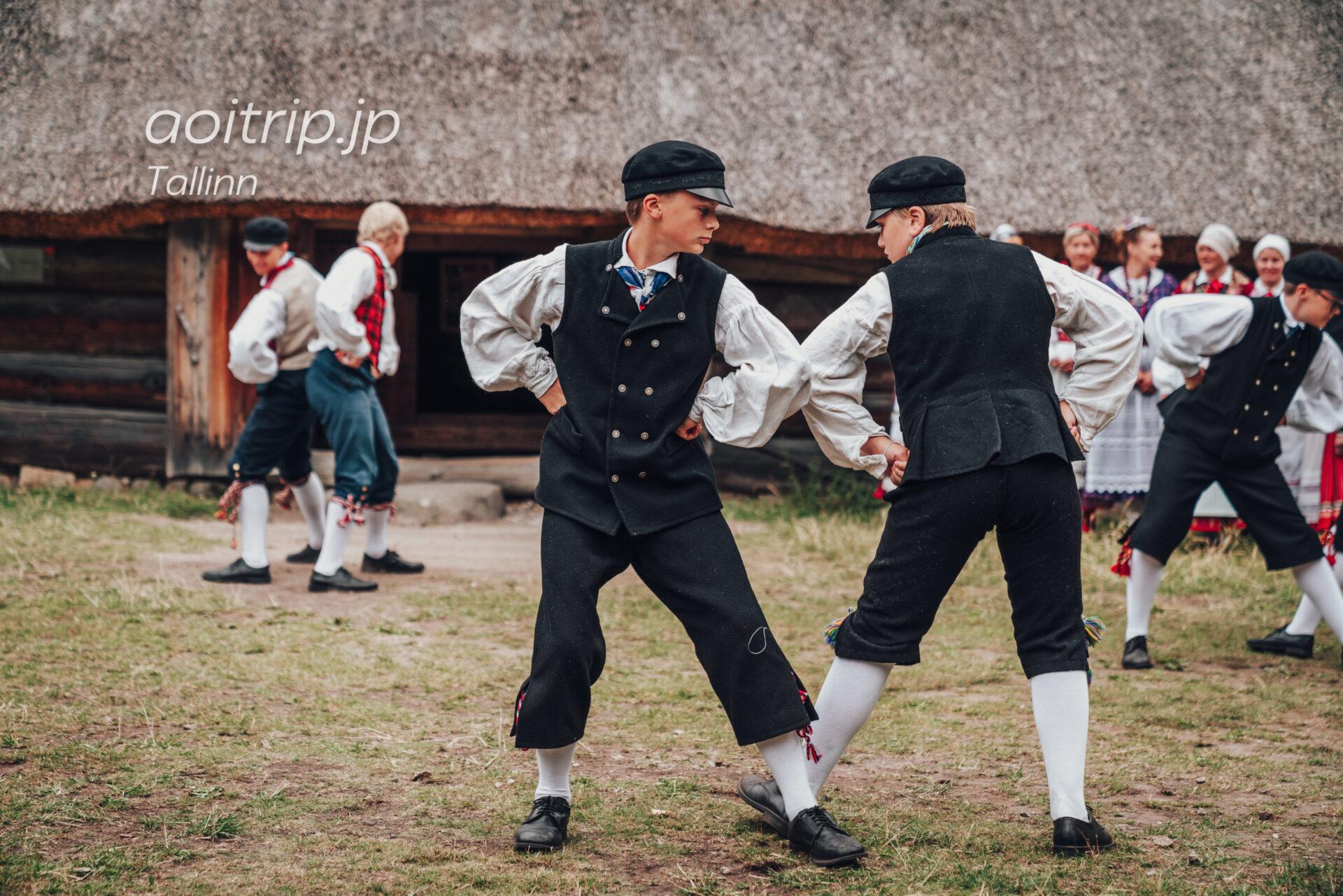 エストニア民族野外博物館(Estonian Open Air Museum)のフォークダンス