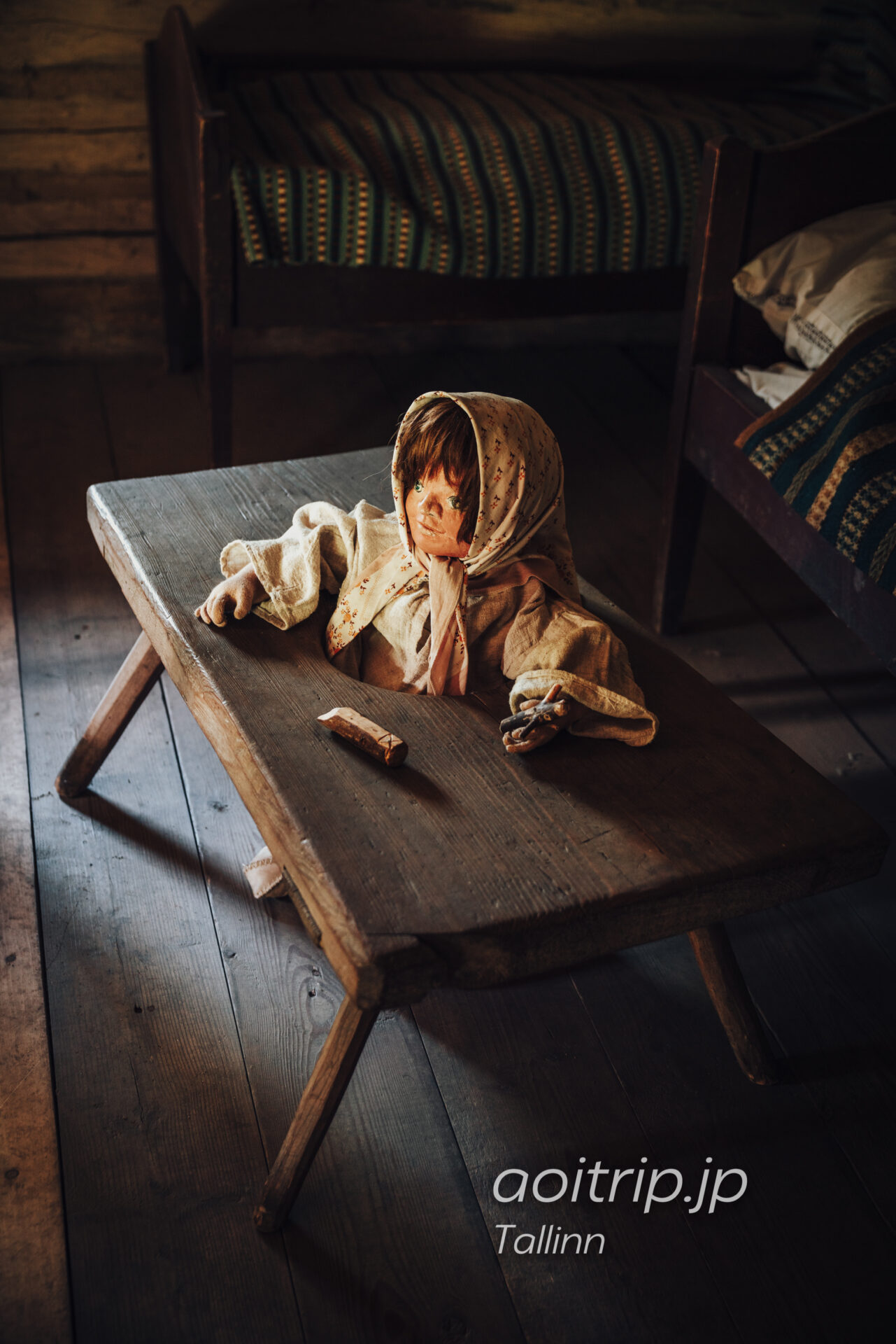 エストニア民族野外博物館(Estonian Open Air Museum)赤ちゃん歩行器