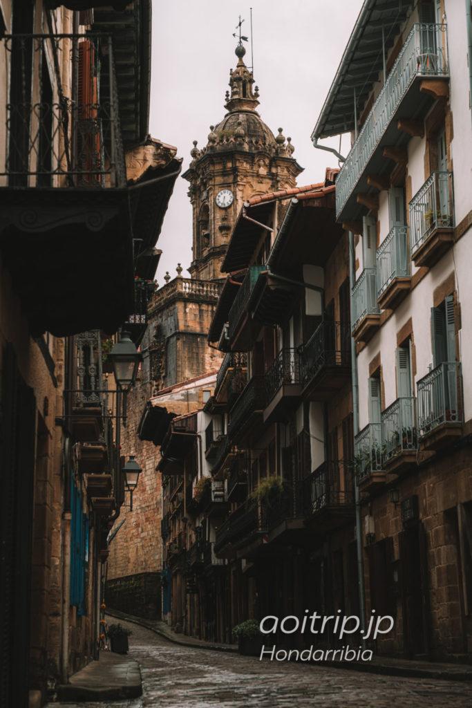 スペイン オンダリビア の町並み