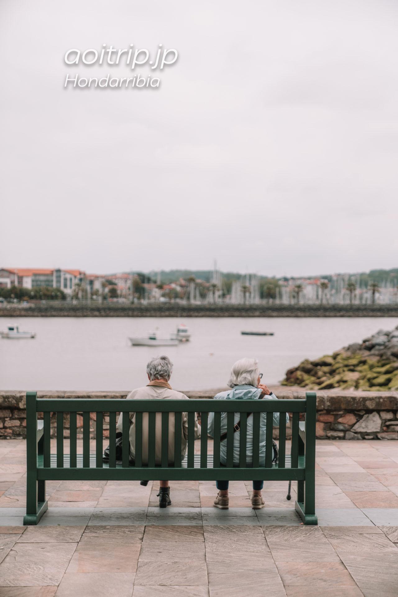 スペイン・フランスの国境ビダソア川を望む