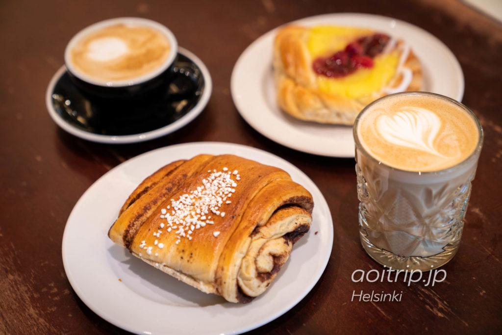 ヘルシンキのカフェ「Café Esplanad」シナモンロール