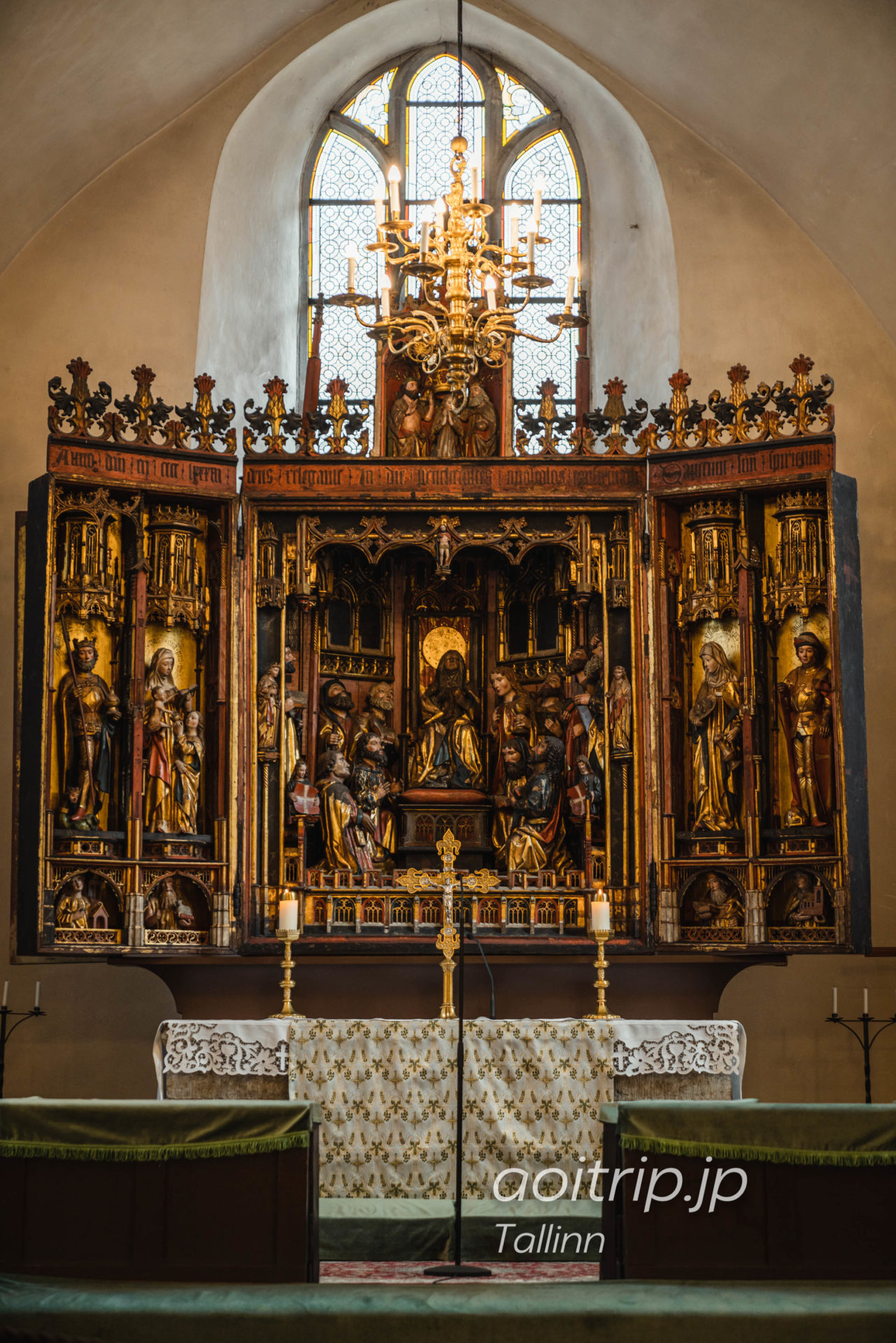 エストニア タリンの聖霊教会 ベルント ノトケによる15世紀の祭壇