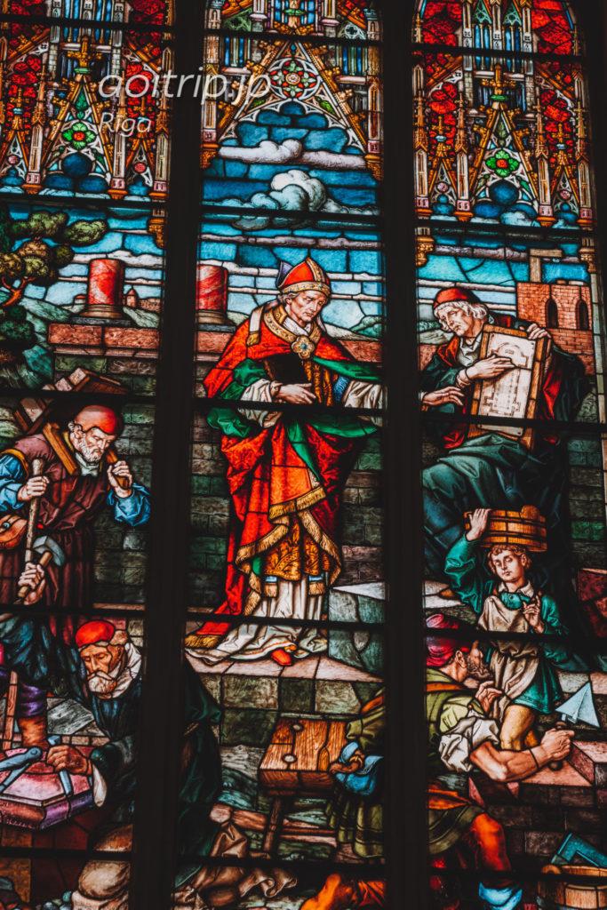 ラトビア リガ大聖堂のステンドグラス
