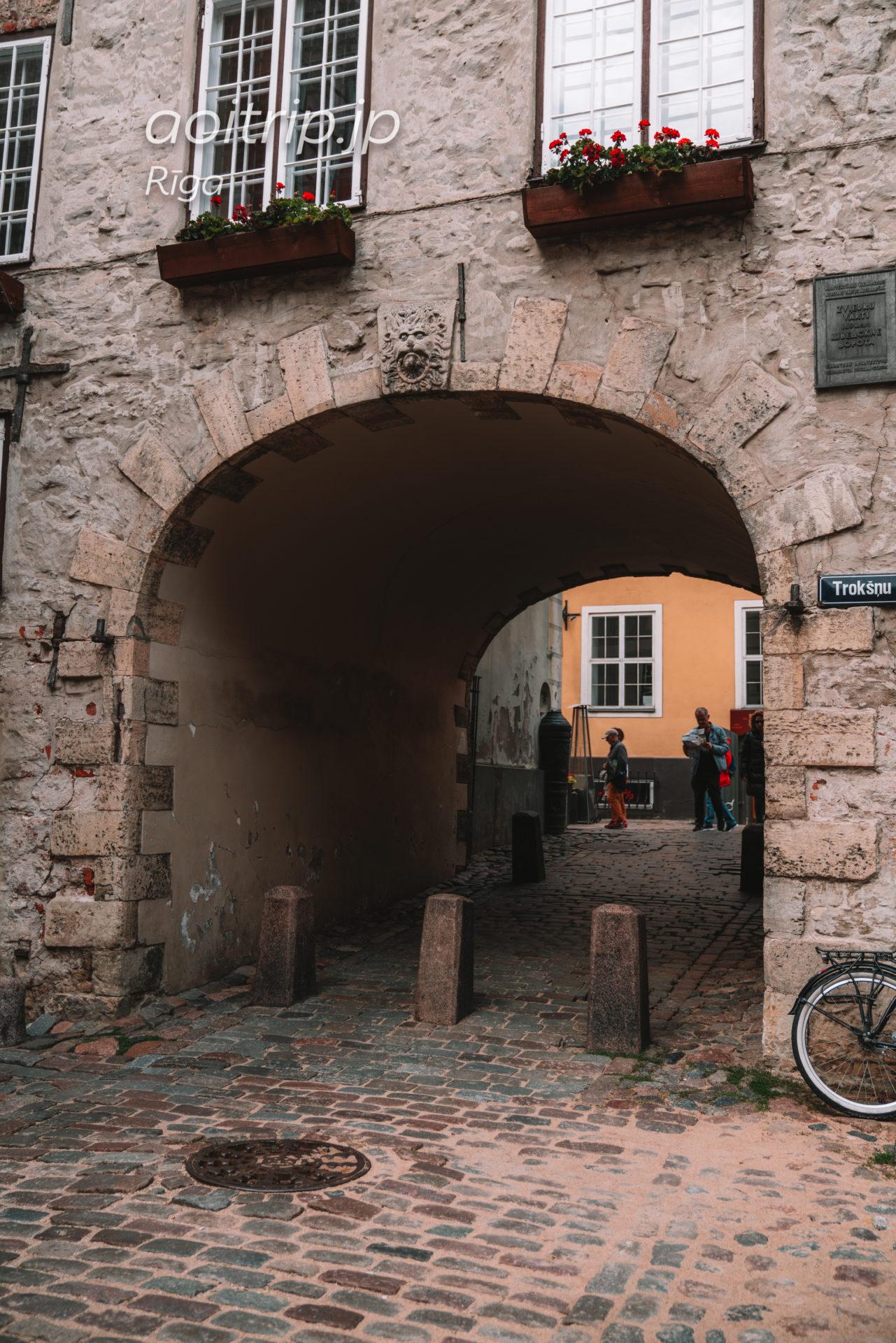 ラトビア リガのスウェーデン門