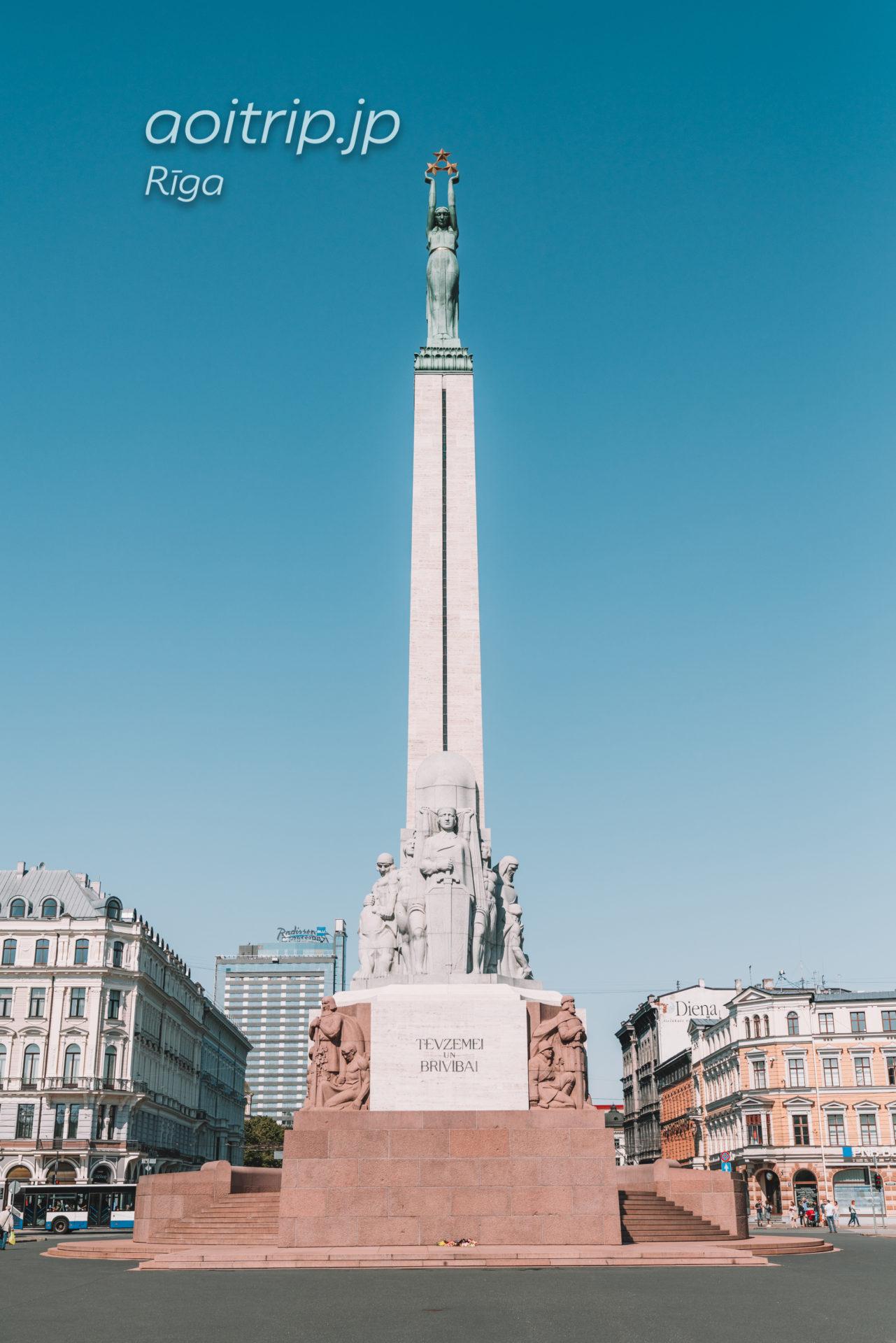 ラトヴィア リーガの自由記念碑