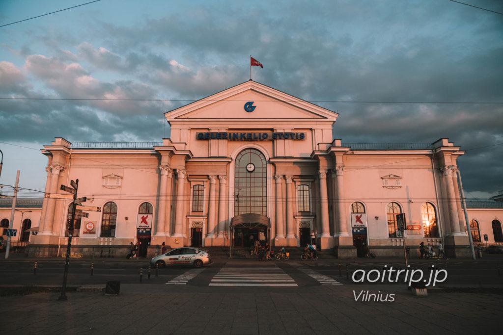 リトアニアのヴィリニュス鉄道駅