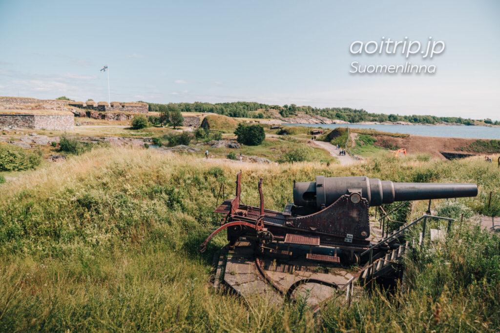 スオメンリンナの要塞 Suomenlinna クスターンミエッカの大砲