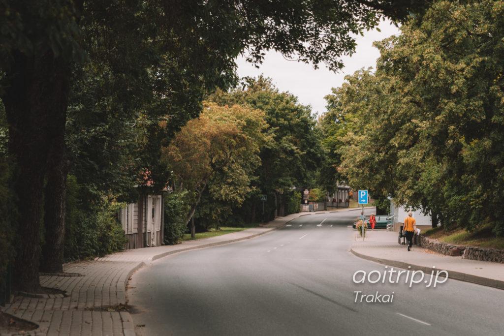 リトアニアのトゥラカイ Vytauto g.(ヴィタウト通り)