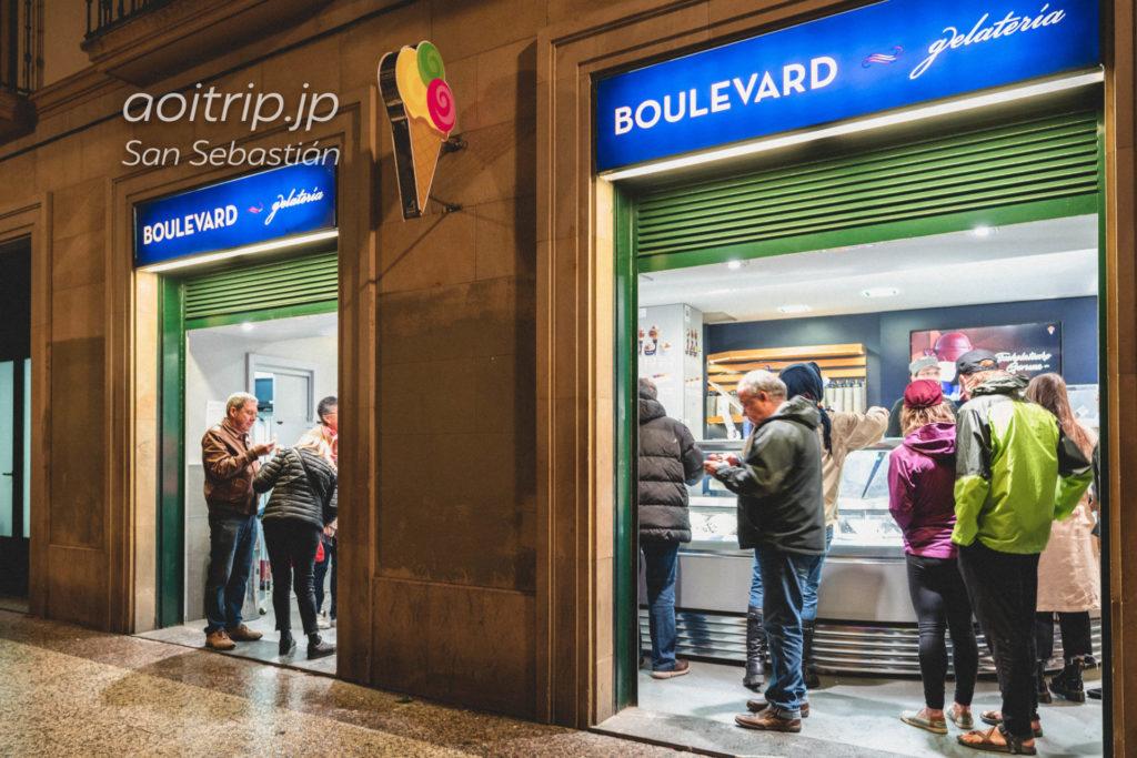 サンセバスティアンのジェラート店 Gelateria Boulevard