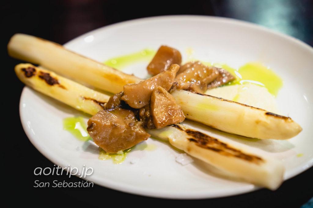 サンセバスティアンのバル Borda Berri Esparrago asado con Hongos