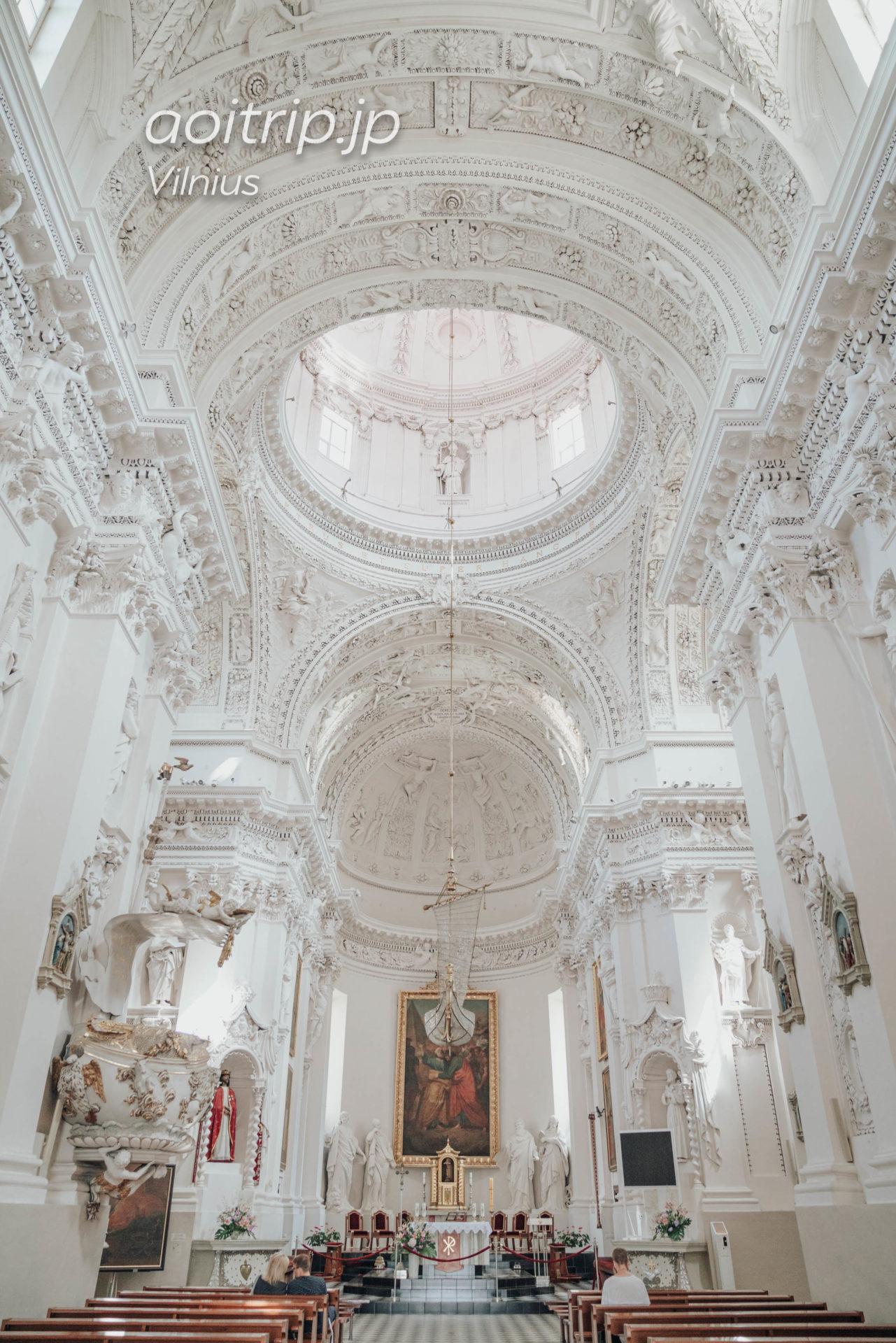 リトアニア ヴィリニュスの聖ペテロ&パウロ教会