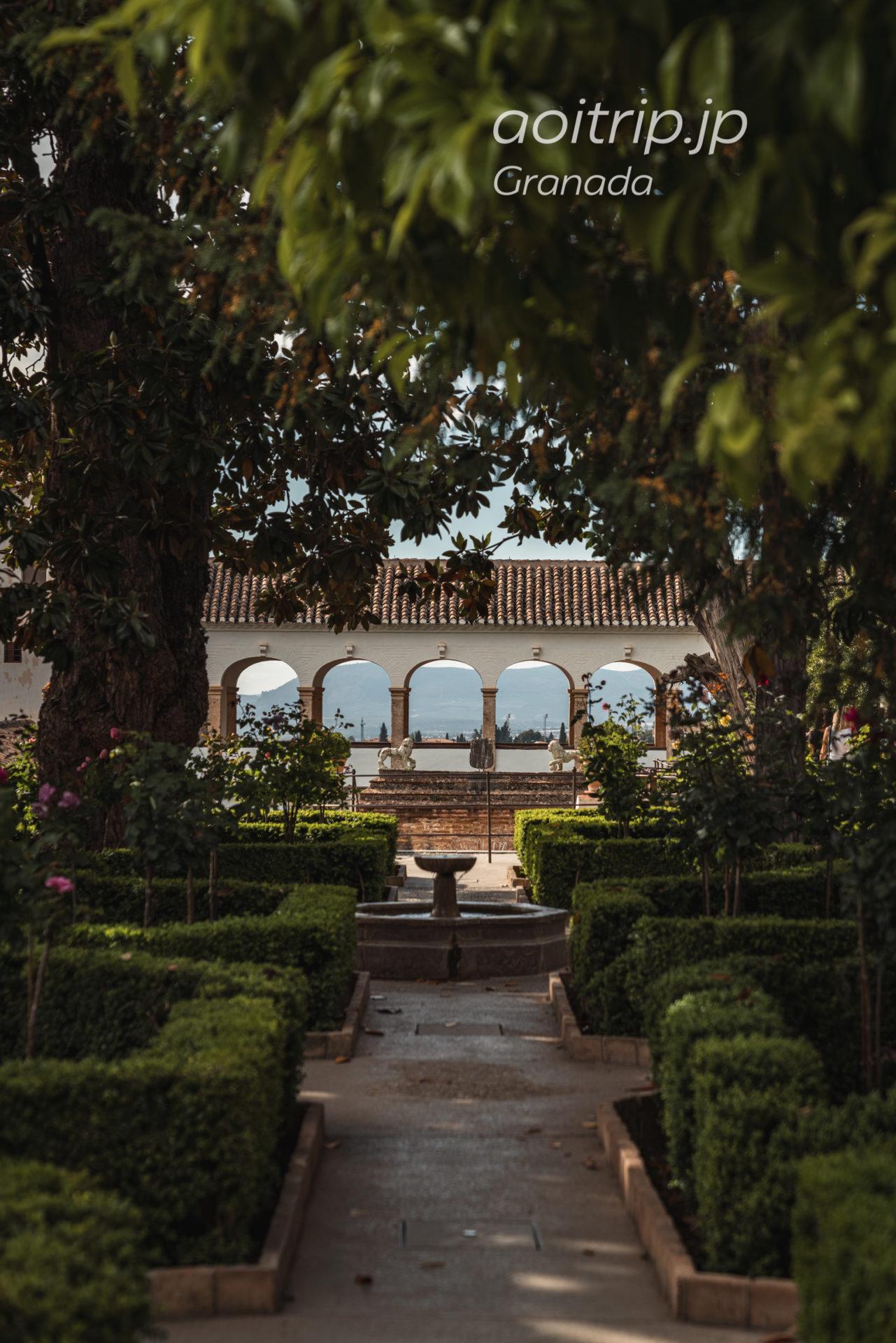 アルハンブラの庭園 ヘネラリフェ(グラナダ)