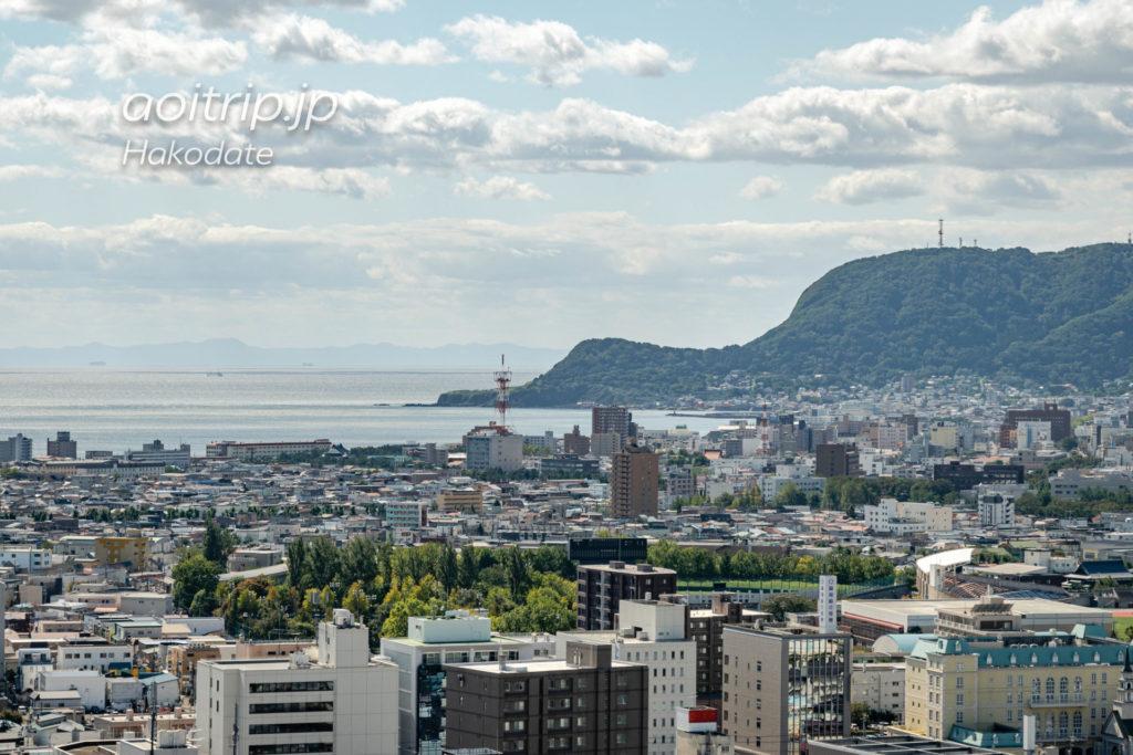 函館 五稜郭タワーからの眺望 立待岬