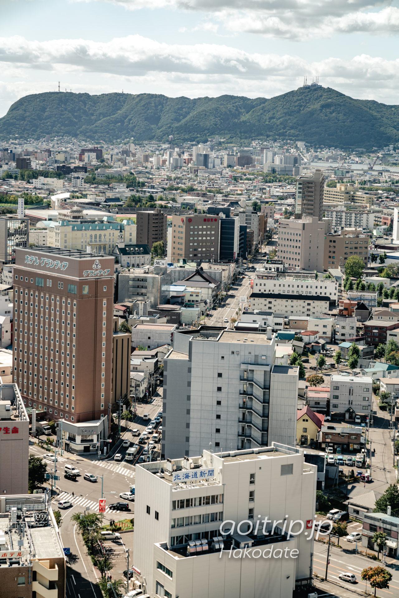 五稜郭タワーからの眺望 函館山