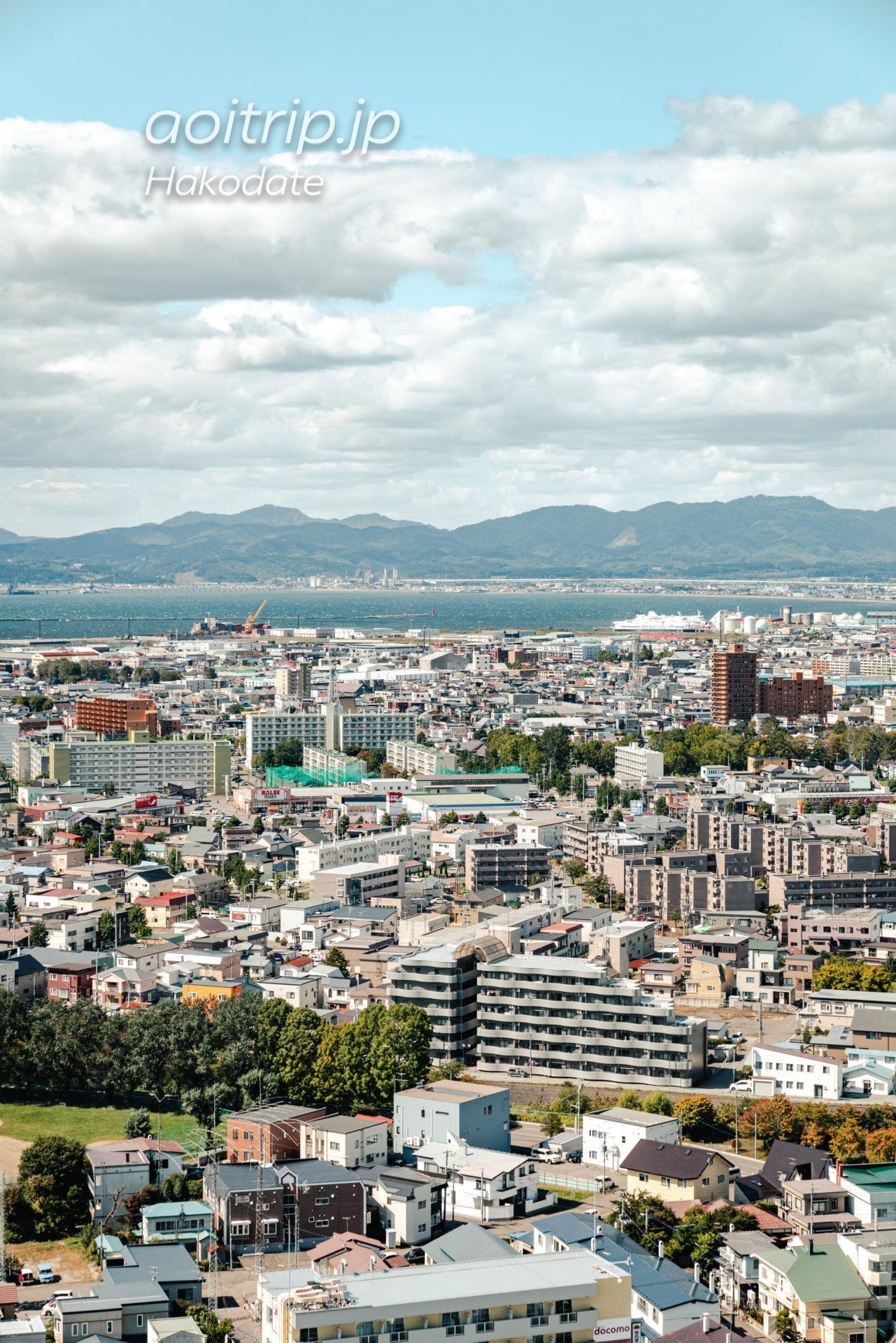 函館 五稜郭タワーからの眺望 北斗