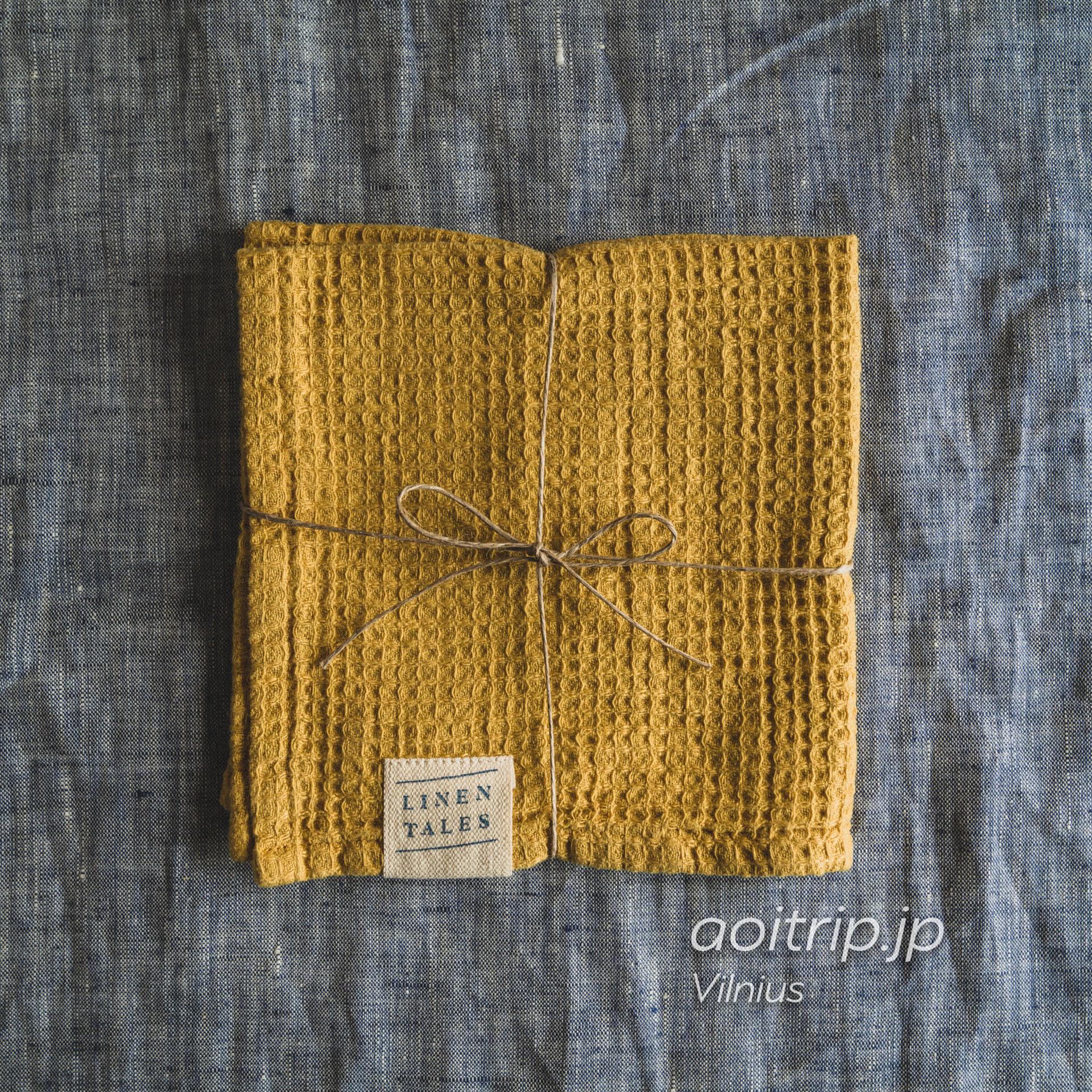 リトアニア ヴィリニュスのリネンテイルズ(Linen Tales)54%Linen and 46%Cotton made in Lithuania. 30×30. €6.90