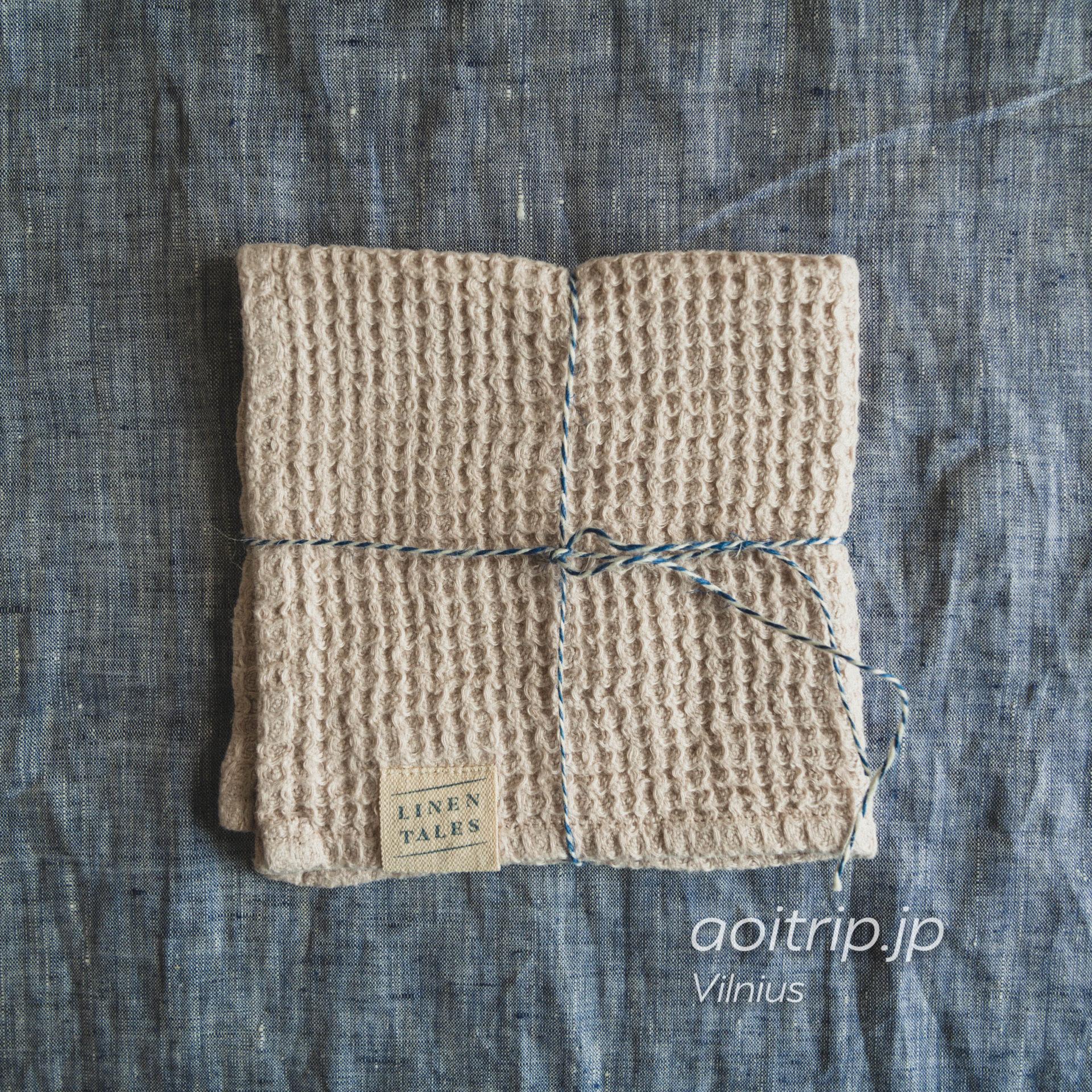 リトアニア ヴィリニュスのリネンテイルズ(Linen Tales)100% Linen made in Lithuania. 30×30. €7.50