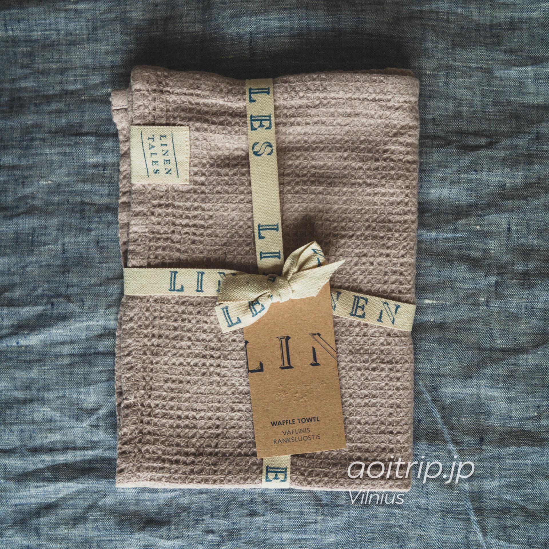 リトアニア ヴィリニュスのリネンテイルズ(Linen Tales) 100%リネンのスカーフ