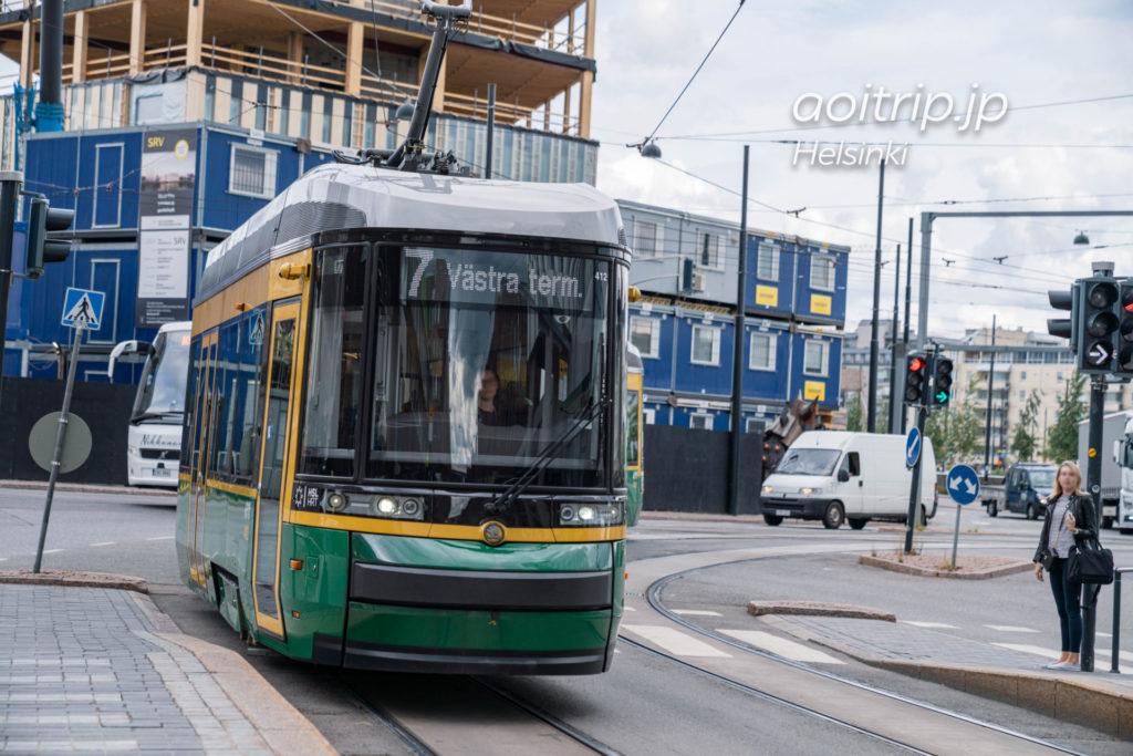 ヘルシンキの路面電車7番線