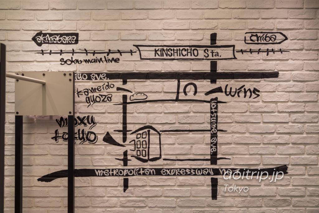 モクシー東京錦糸町 Moxy Tokyo Kinshicho 案内図